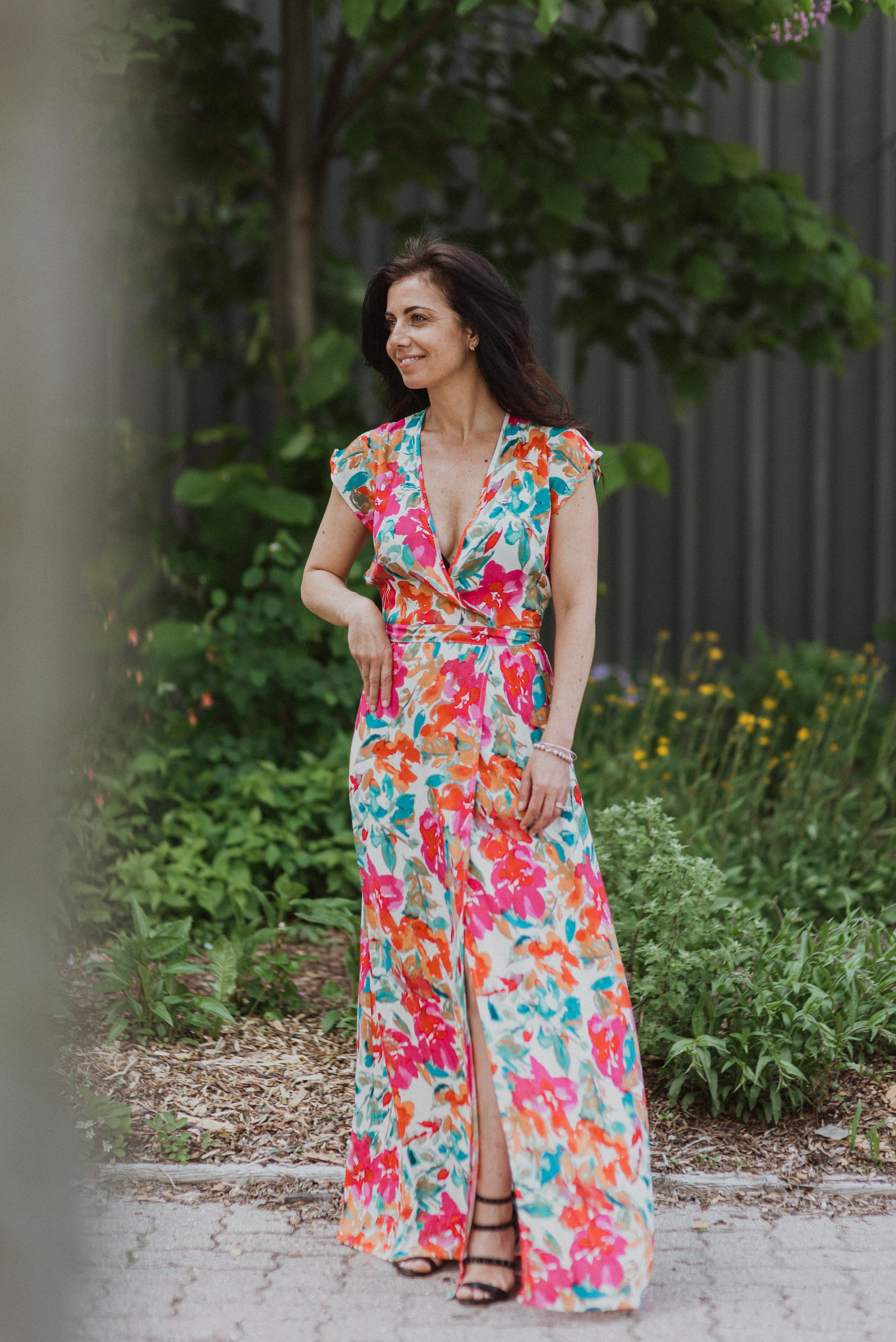 What In Carnation Bardot Wrap Maxi Dress / FINAL SALE