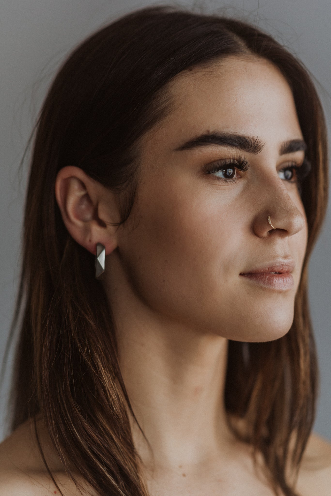 Golden Hour Hoop Earrings in Silver