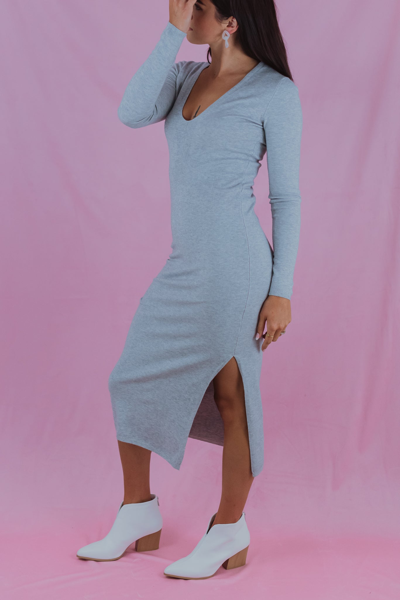 •sold out• Fall Bucket List V-Neck Sweater Dress