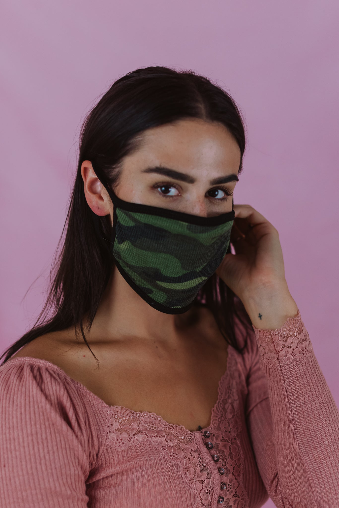 •sold out• Keeping It Safe Face Mask in Camo