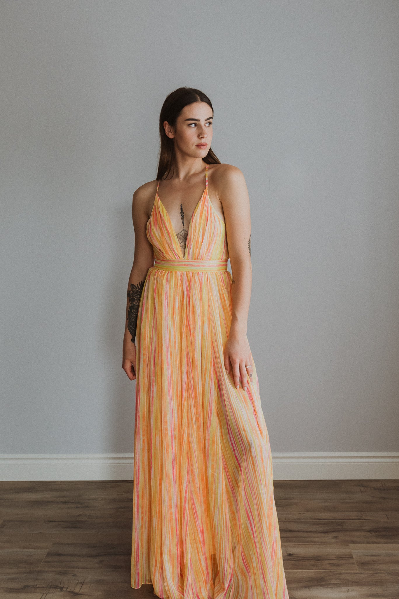 Candy Shop Striped Maxi Dress