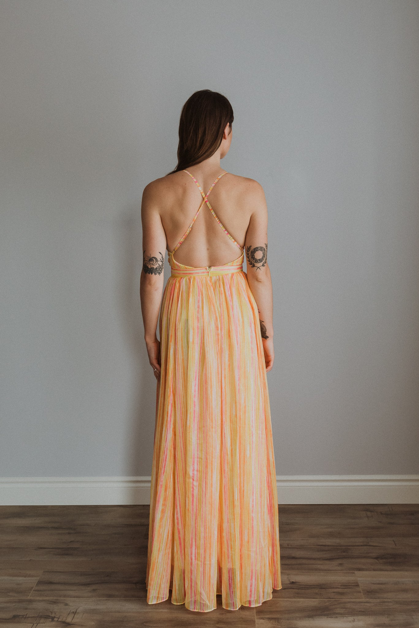 Candy Shop Striped Maxi Dress / FINAL SALE
