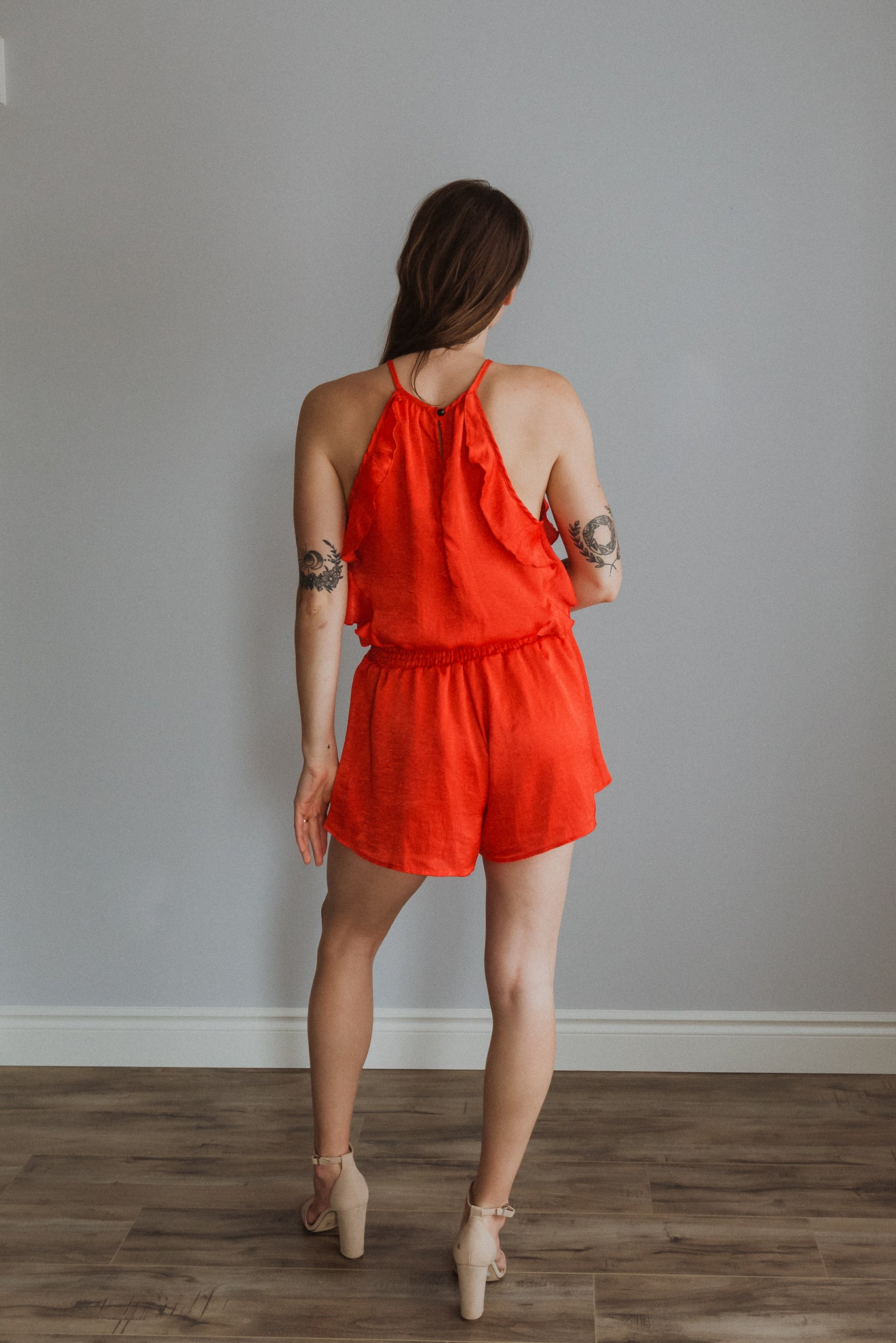 Feel the Fire Ruffle Romper