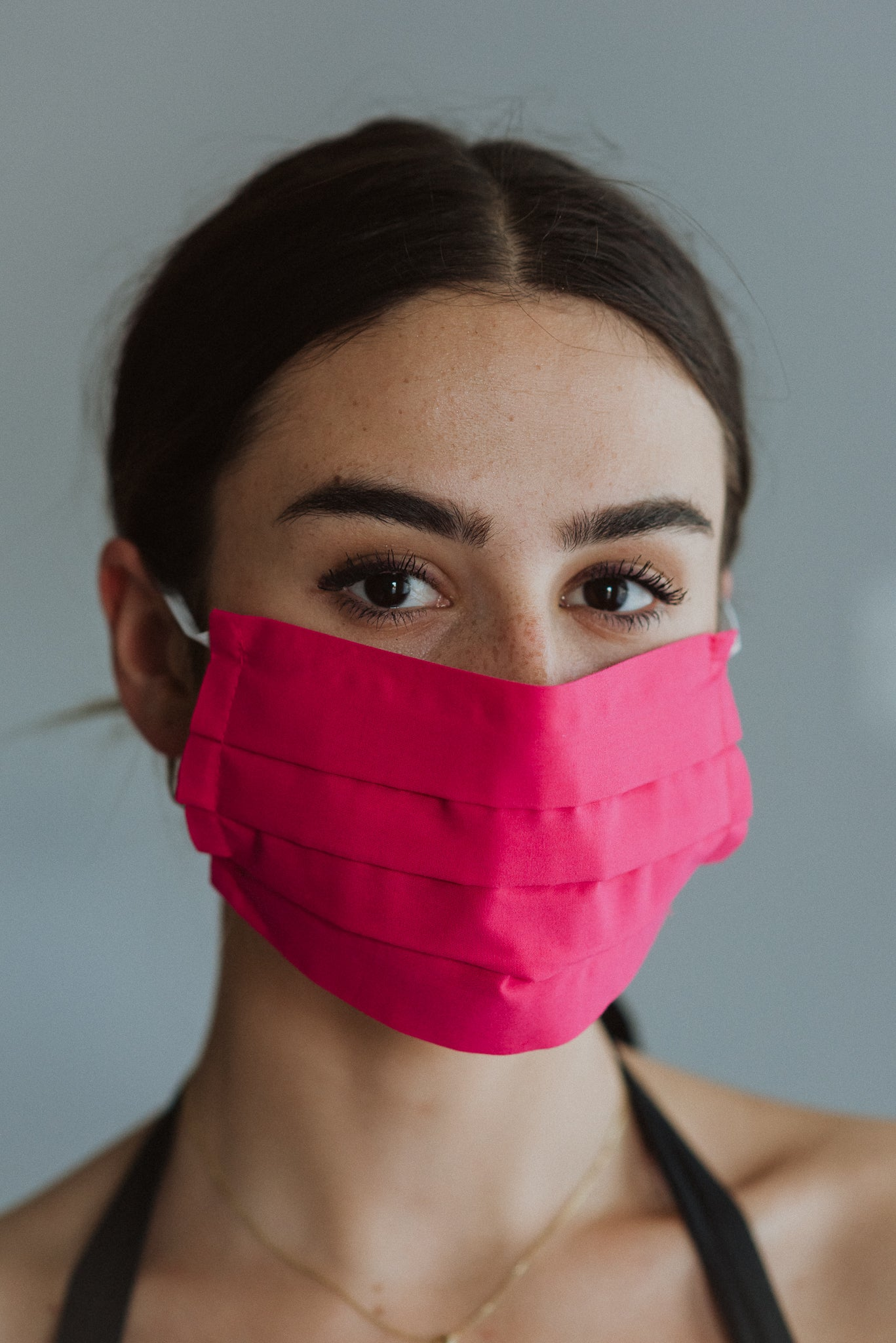 Keeping It Safe Face Mask in Hot Pink