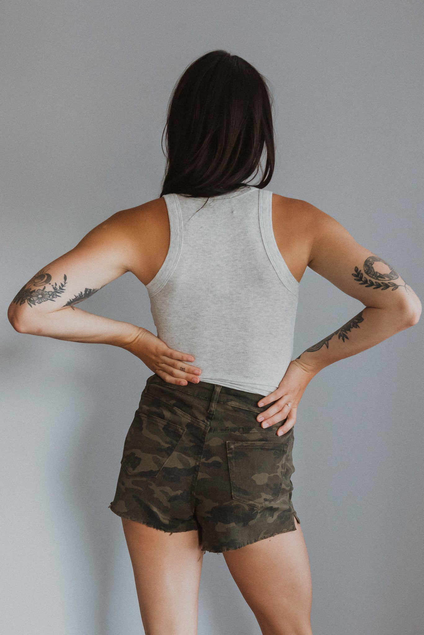 Salute Your Style Camo High-Waisted Shorts