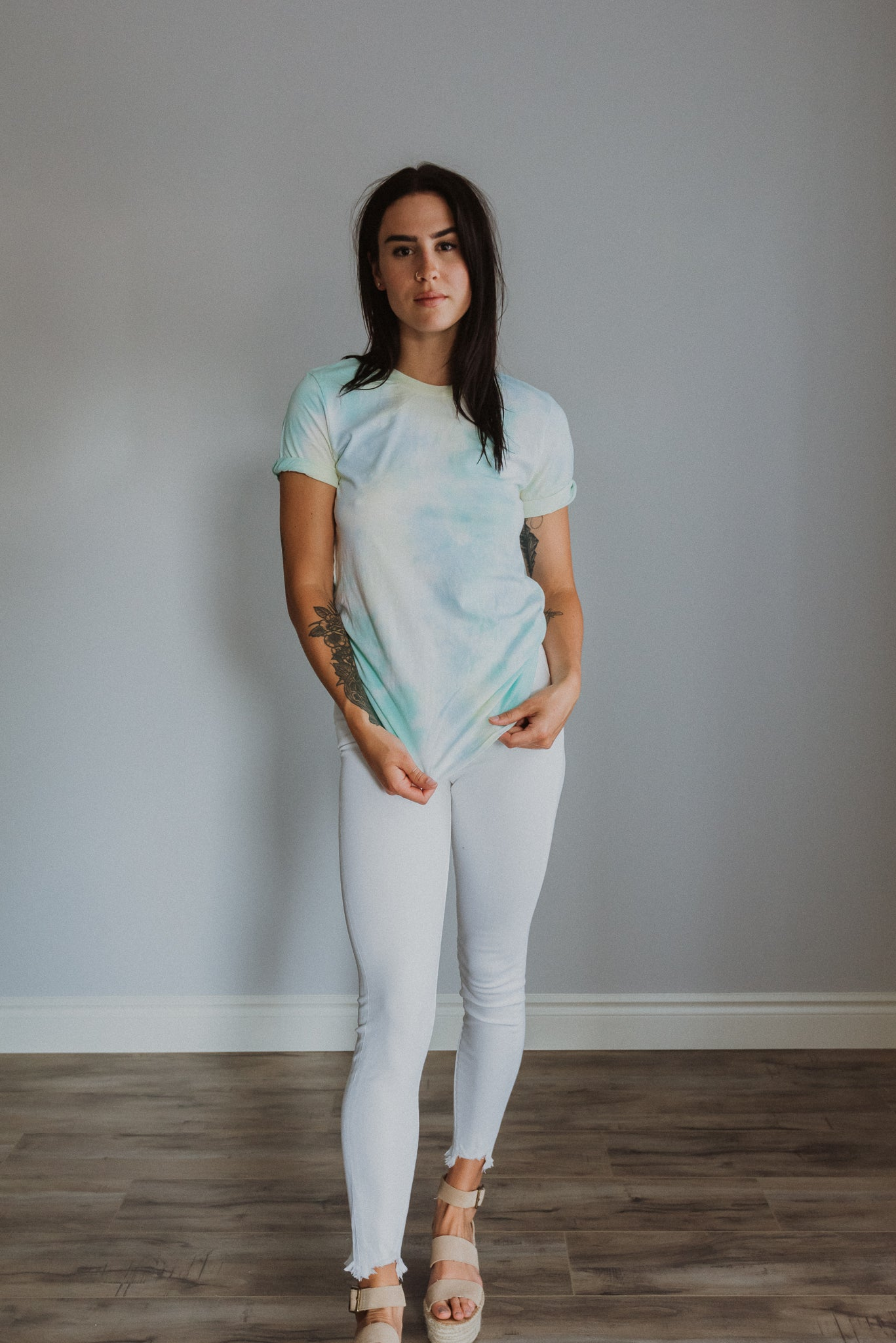 Rainbow Skies Tie Dye T-Shirt in Blue / FINAL SALE
