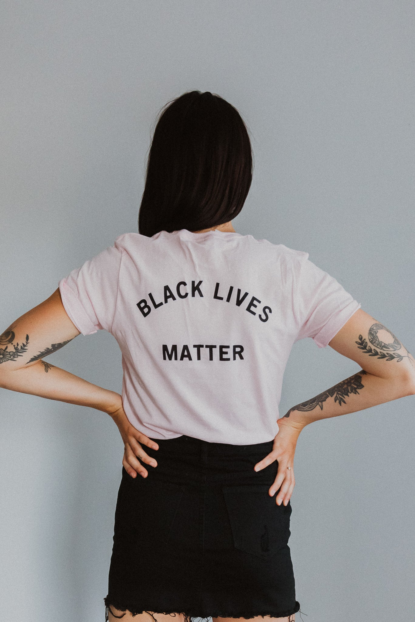 Black Lives Matter Graphic T-Shirt in Pink