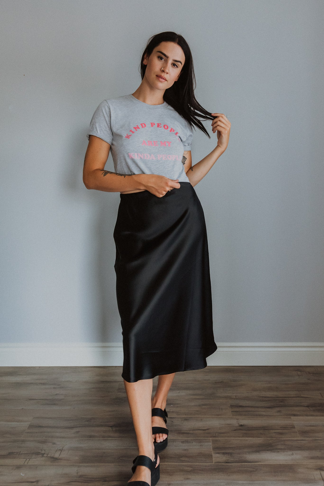 Kind People Are My Kinda People Crop Tee/ FINAL SALE