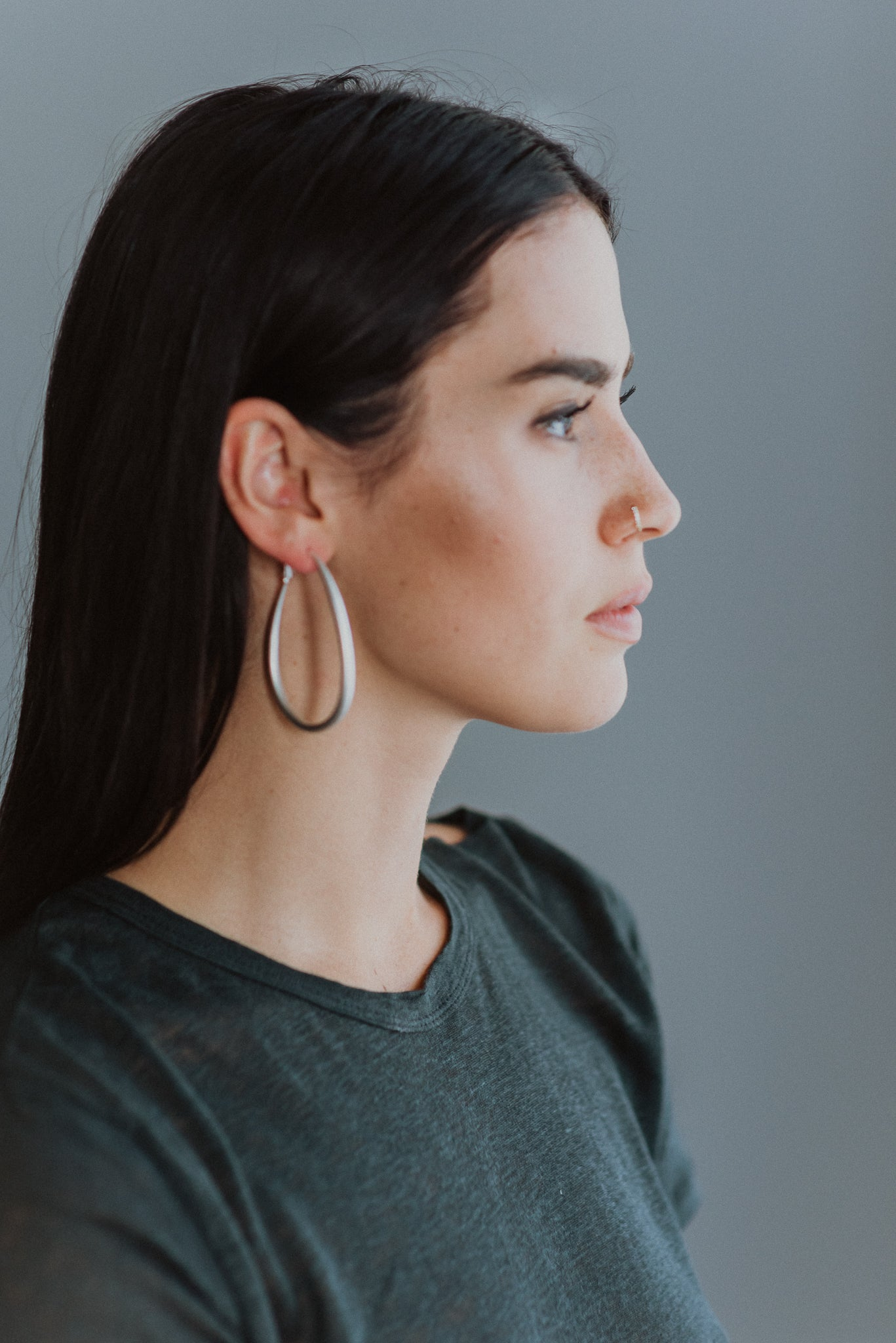 •sold out• Loop Me In Hoop Earrings in Silver