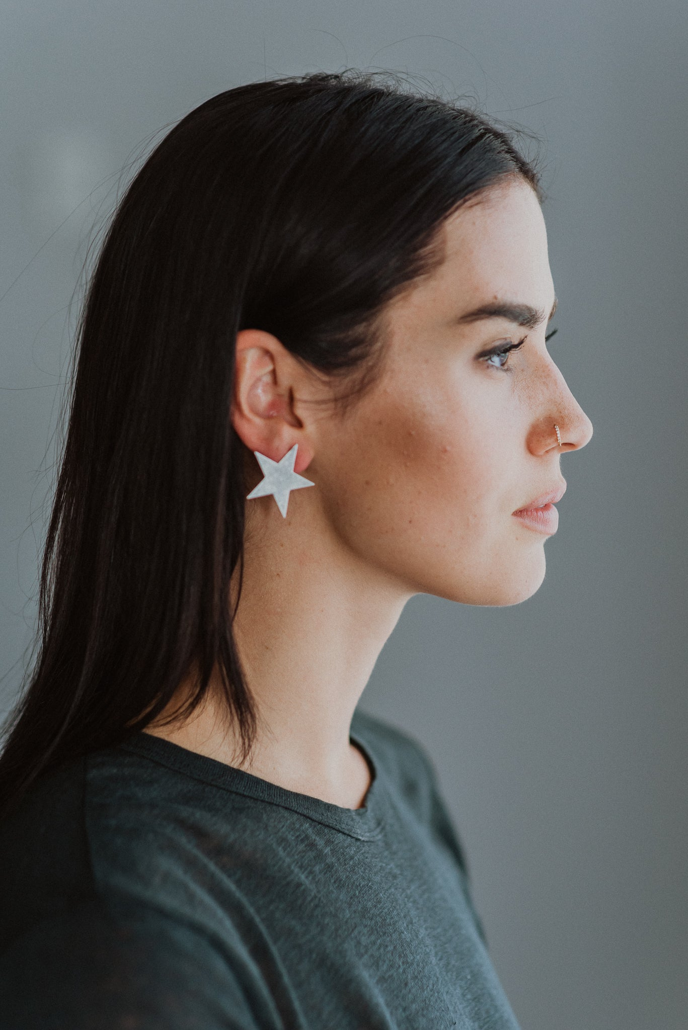 Seeing Stars Stud Earrings in Silver