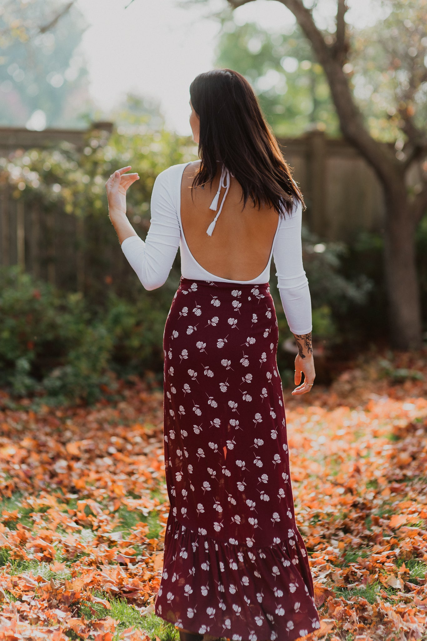 Show Me A Sunset Floral Maxi Skirt / FINAL SALE