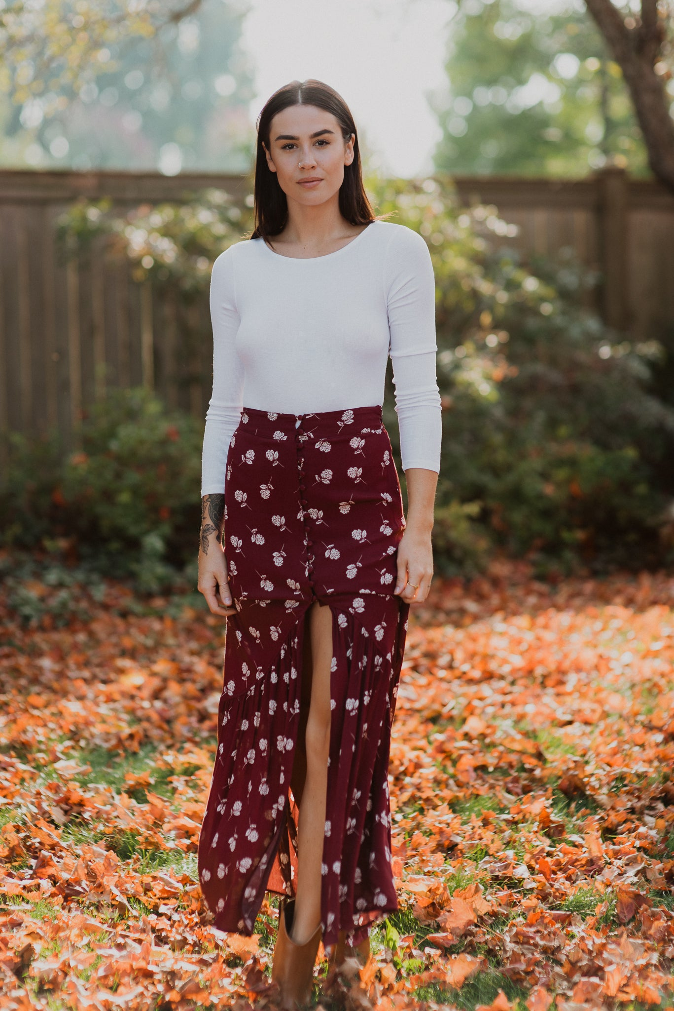 Show Me A Sunset Floral Maxi Skirt