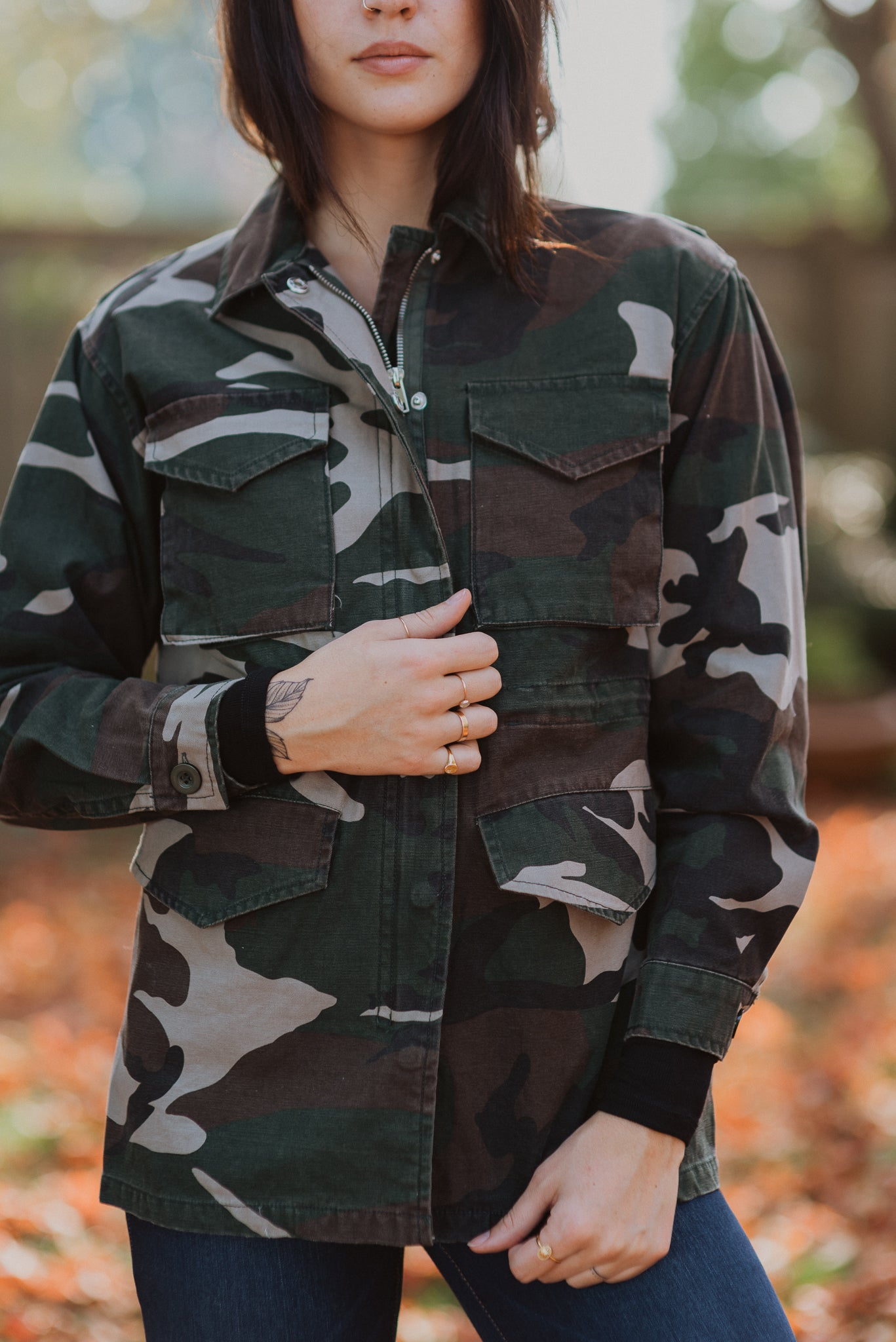 Don't Blend In Camo Jacket / FINAL SALE
