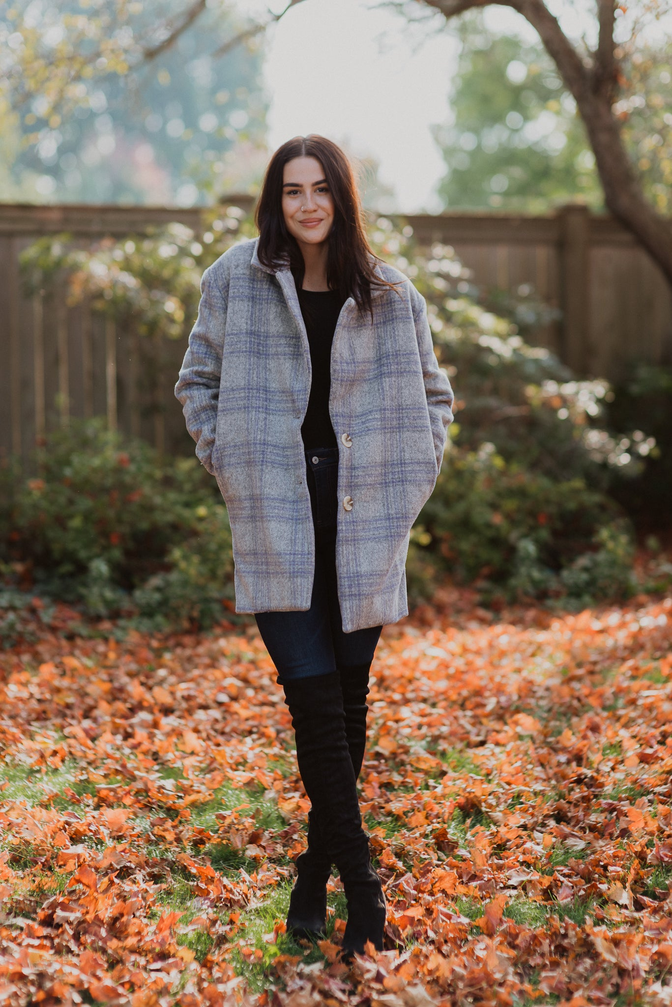 Stepping Out In Style Plaid Jacket