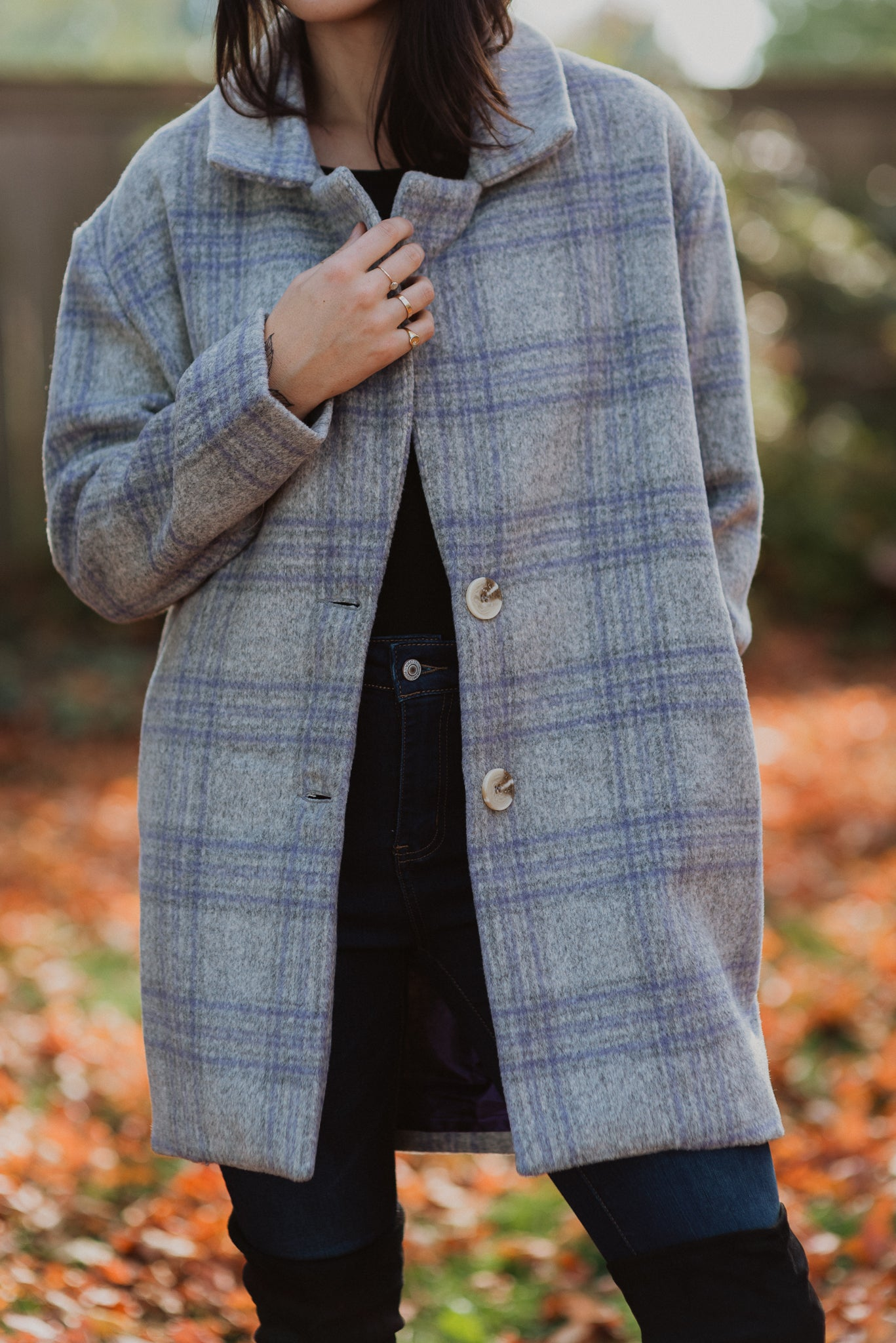 Stepping Out In Style Plaid Jacket / FINAL SALE