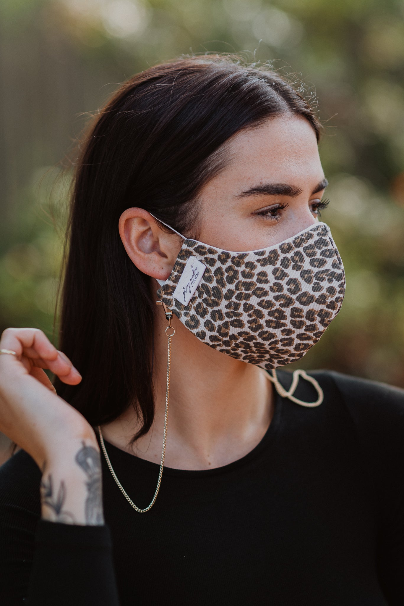 Staying in Disguise Face Mask in Leopard