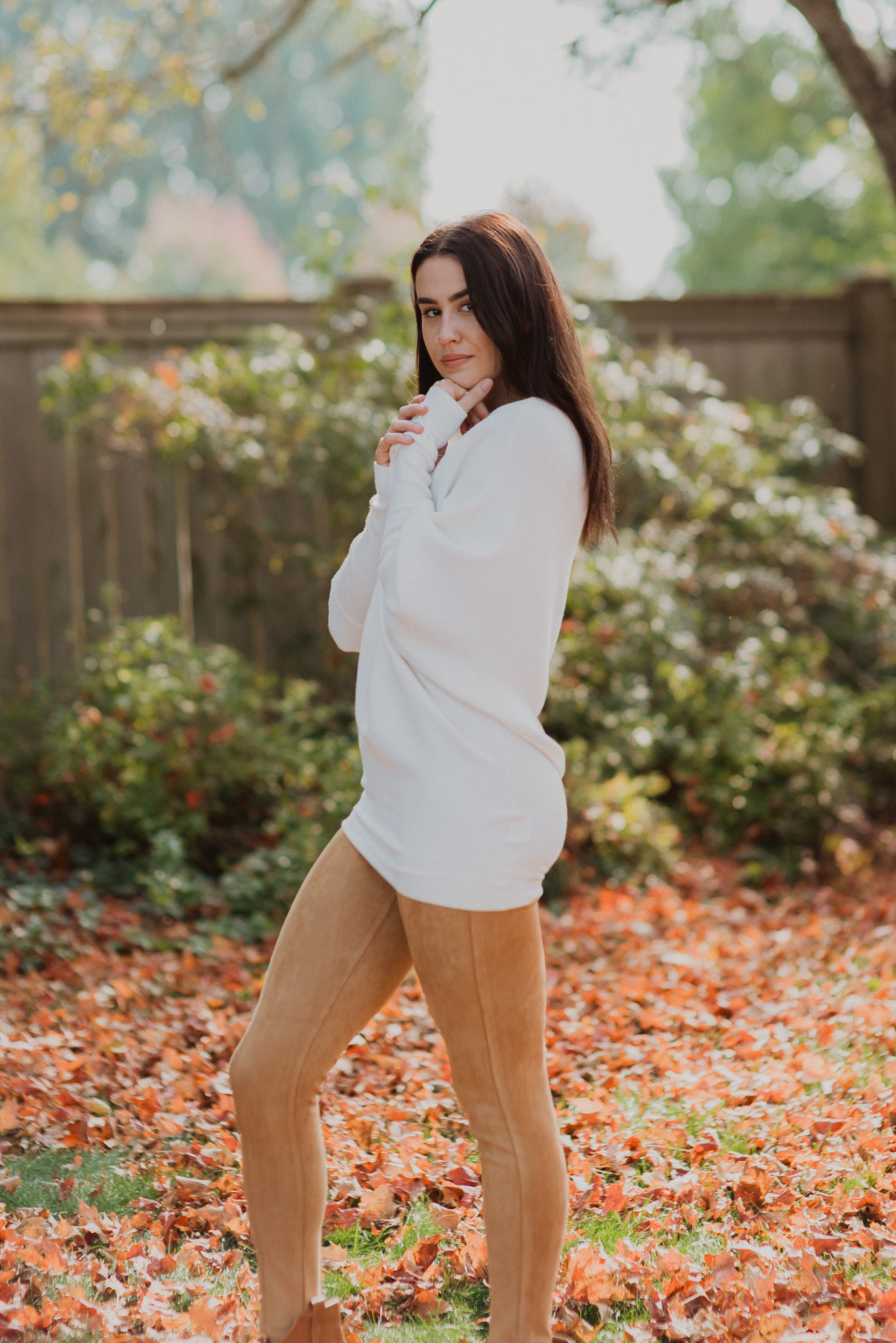 Curve Appeal Faux Suede Pants in Camel