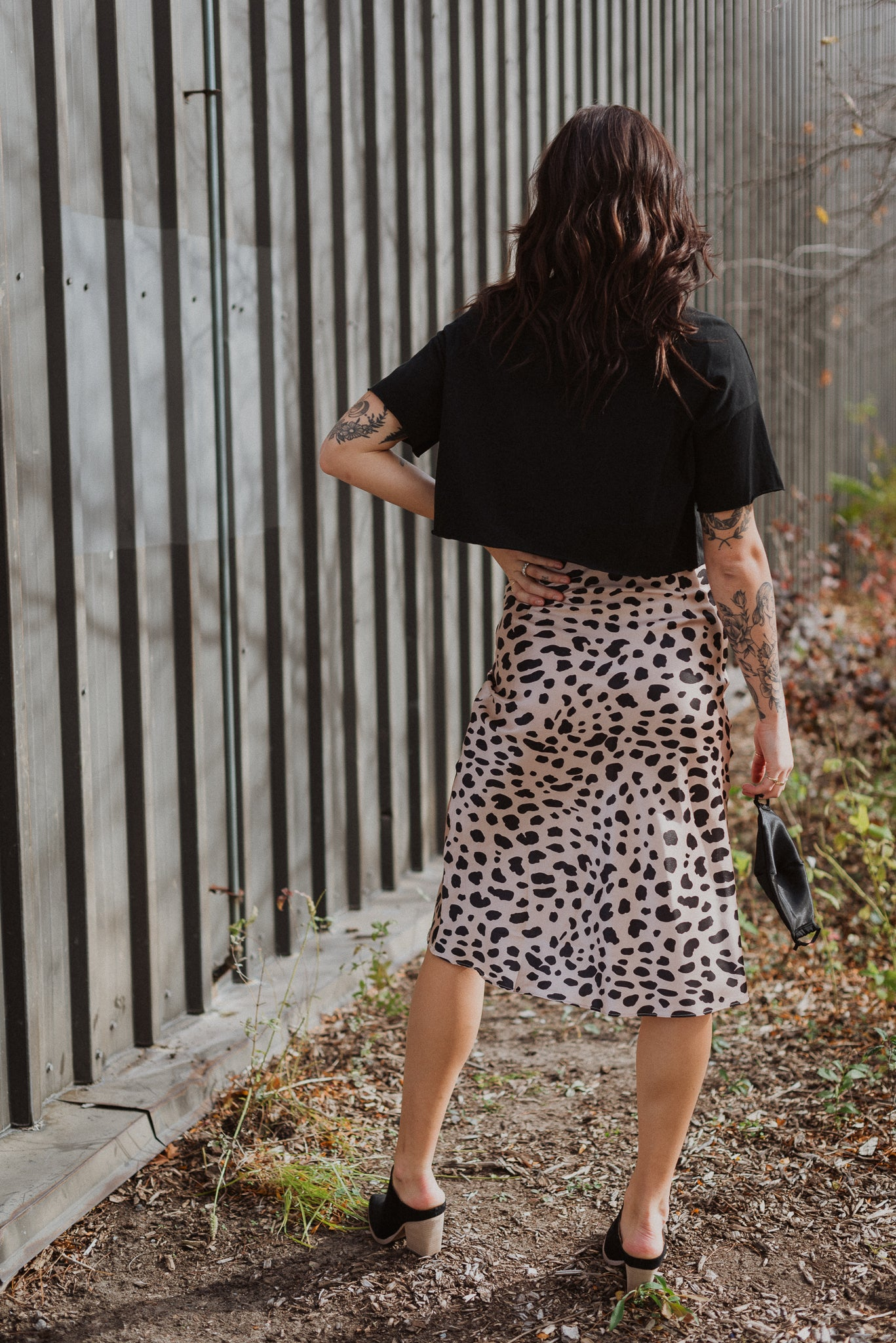 In My Wildest Dreams Leopard Print Satin Skirt