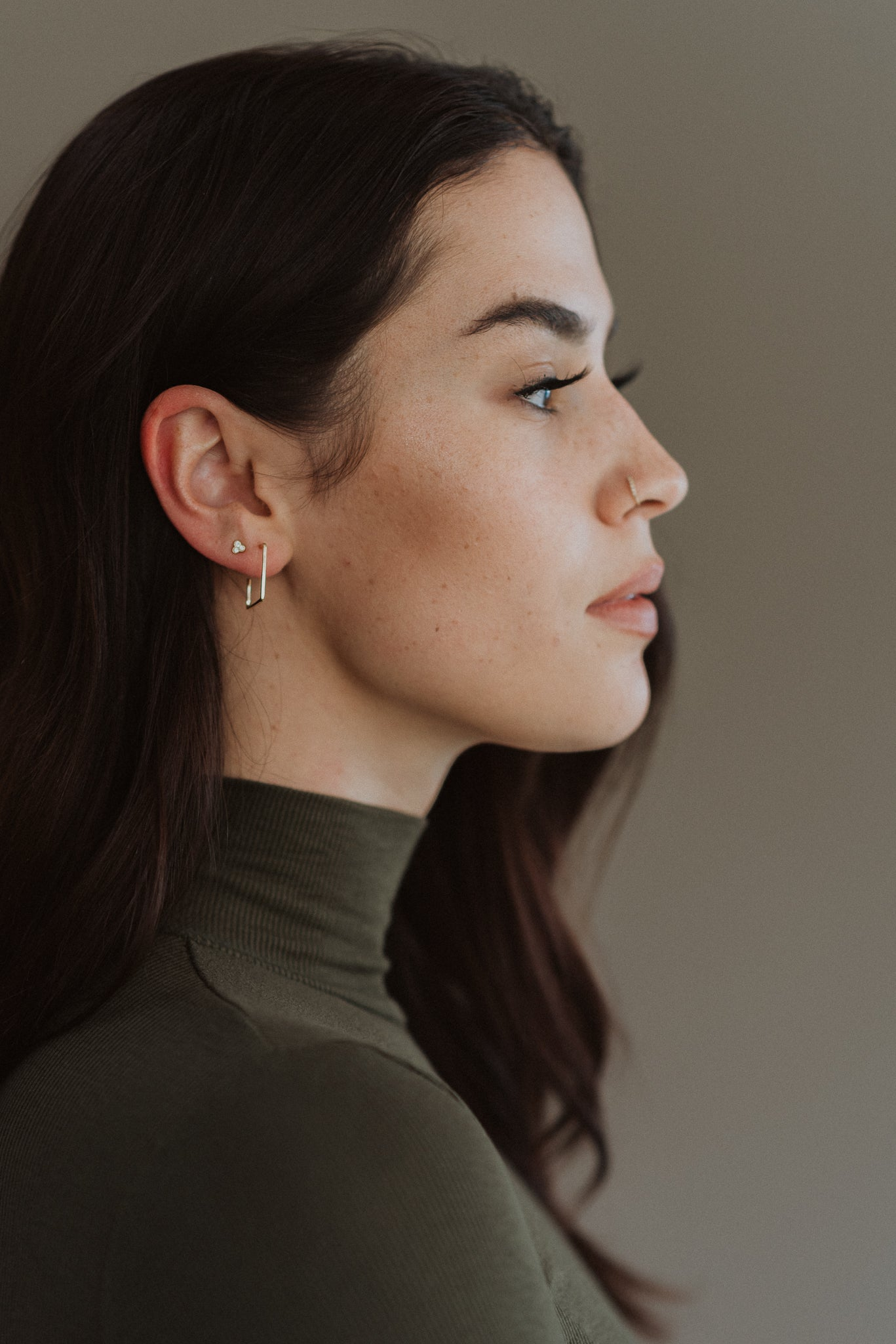•sold out• Simply Stylish Square Hoop Earrings in Silver