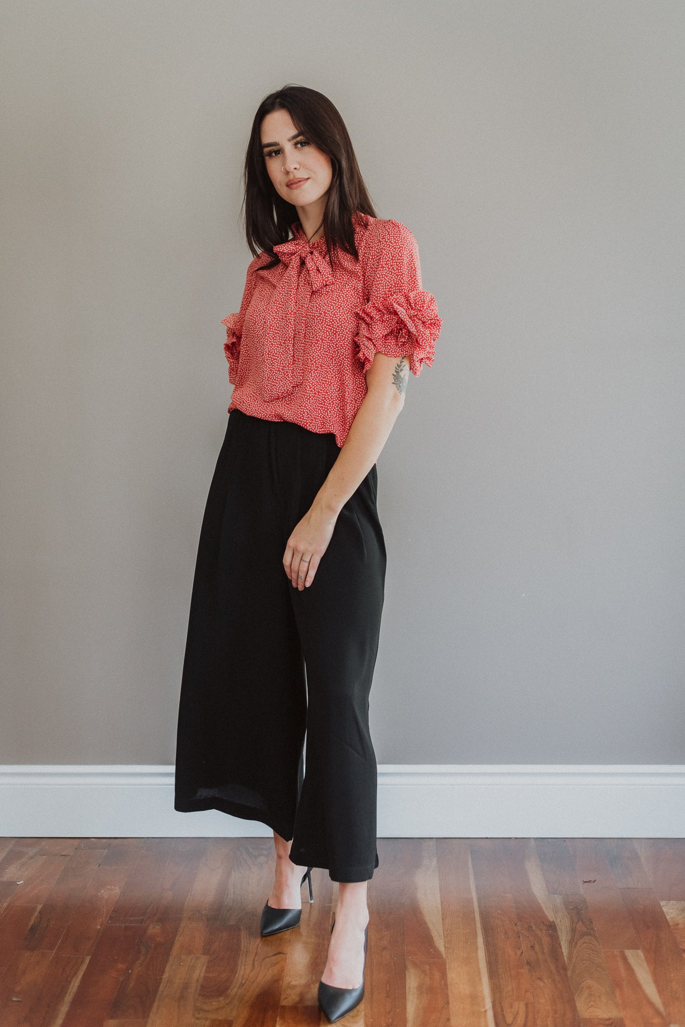 With Confidence Cropped Wide Pants