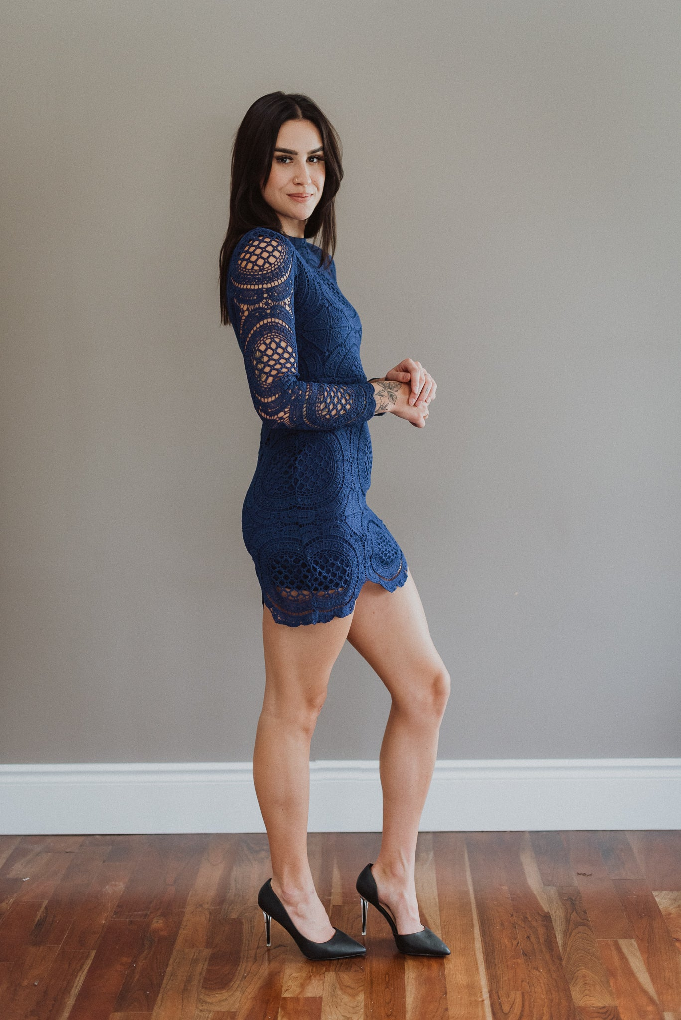 All About That Lace Long Sleeve Dress / FINAL SALE