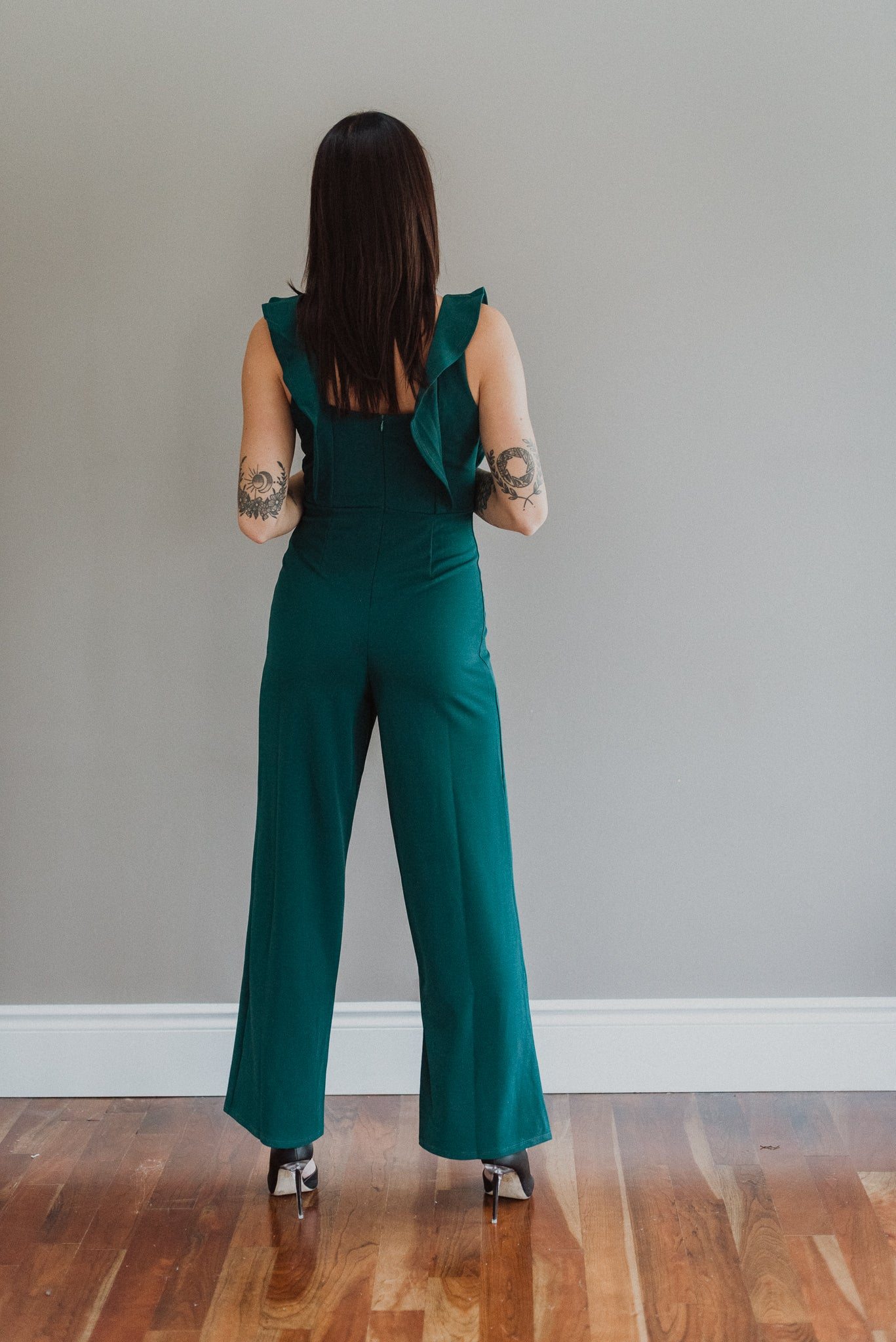 For the Frill of It Wide Leg Ruffle Jumpsuit / FINAL SALE