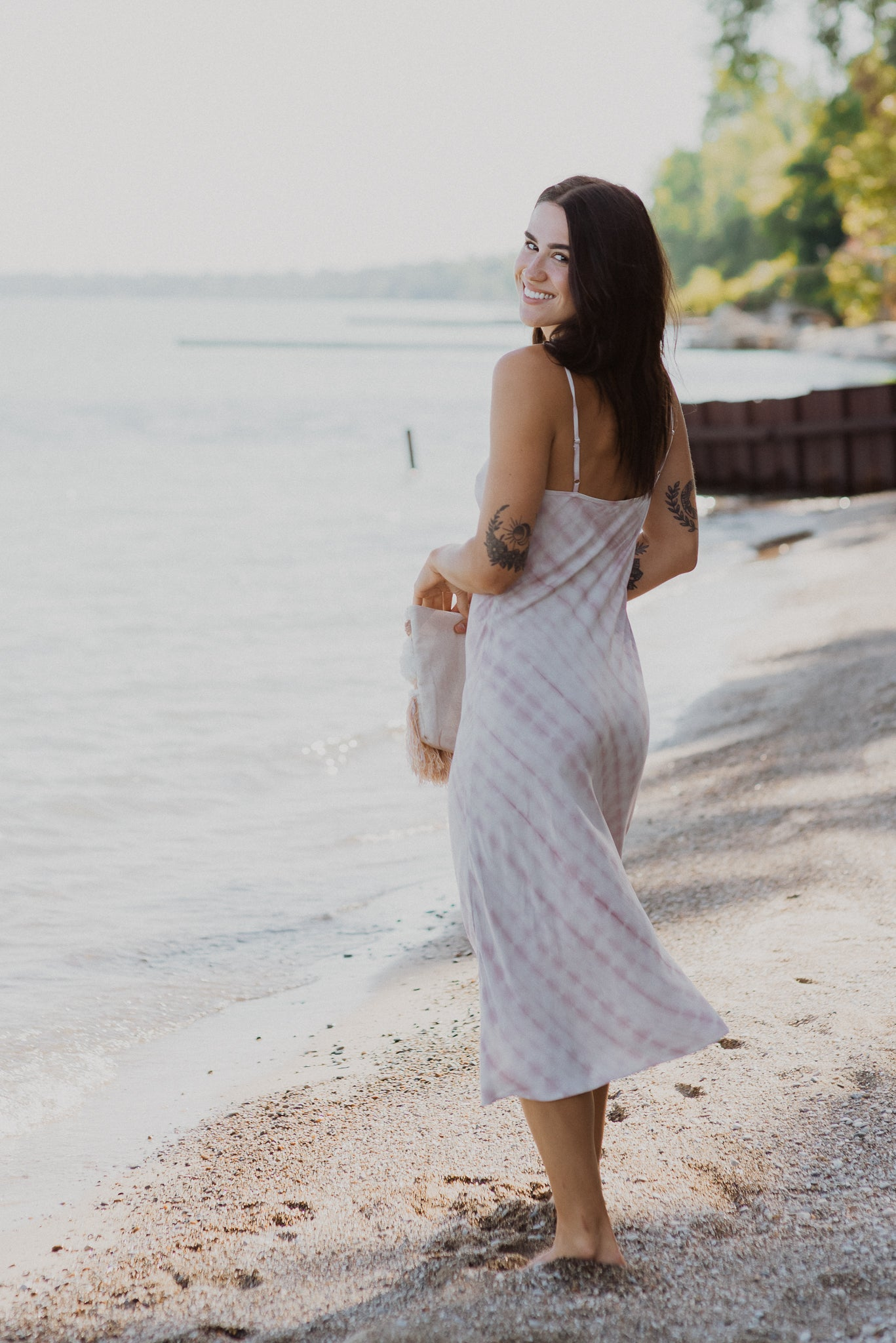 At First Blush Tie Dye Midi Dress
