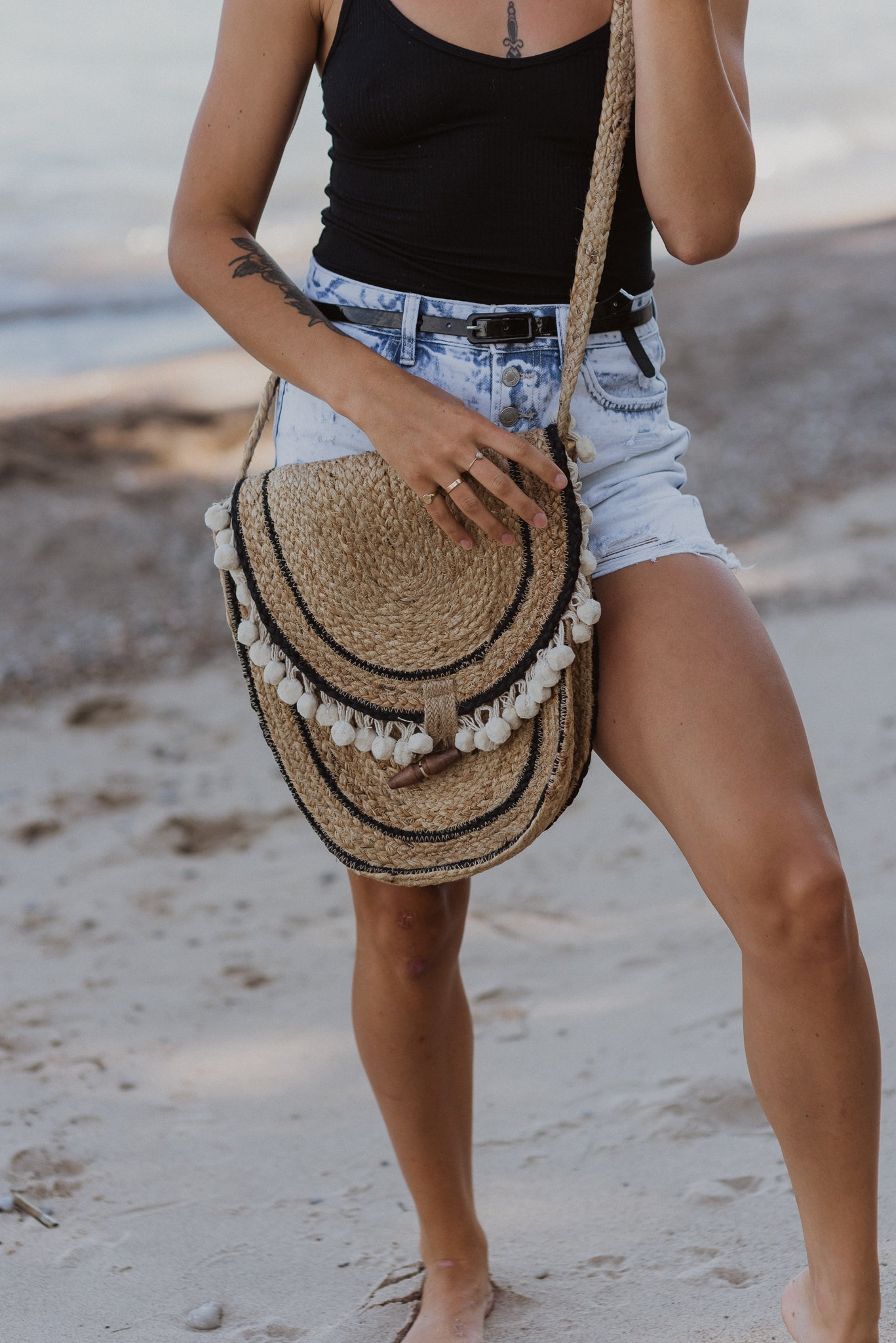 Wild Child Woven Crossbody Bag