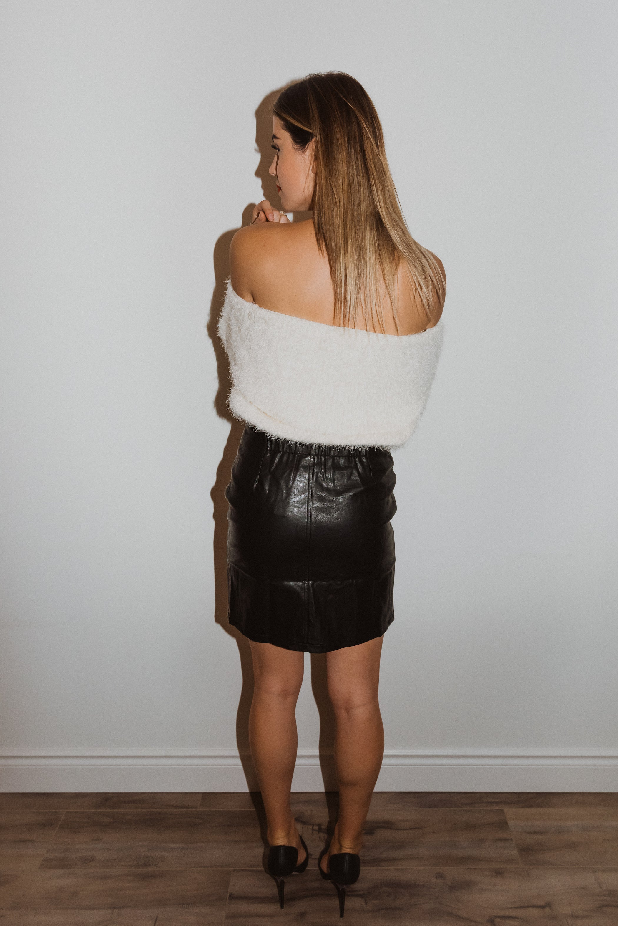 •sold out• You Can Be Both Off the Shoulder Eyelash Sweater