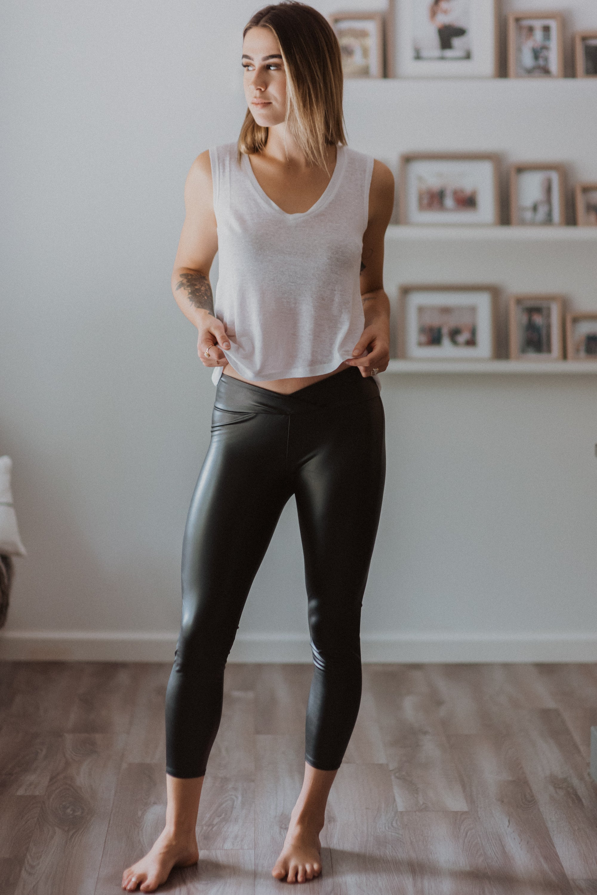 Liquid Leather High-Waist Leggings / FINAL SALE