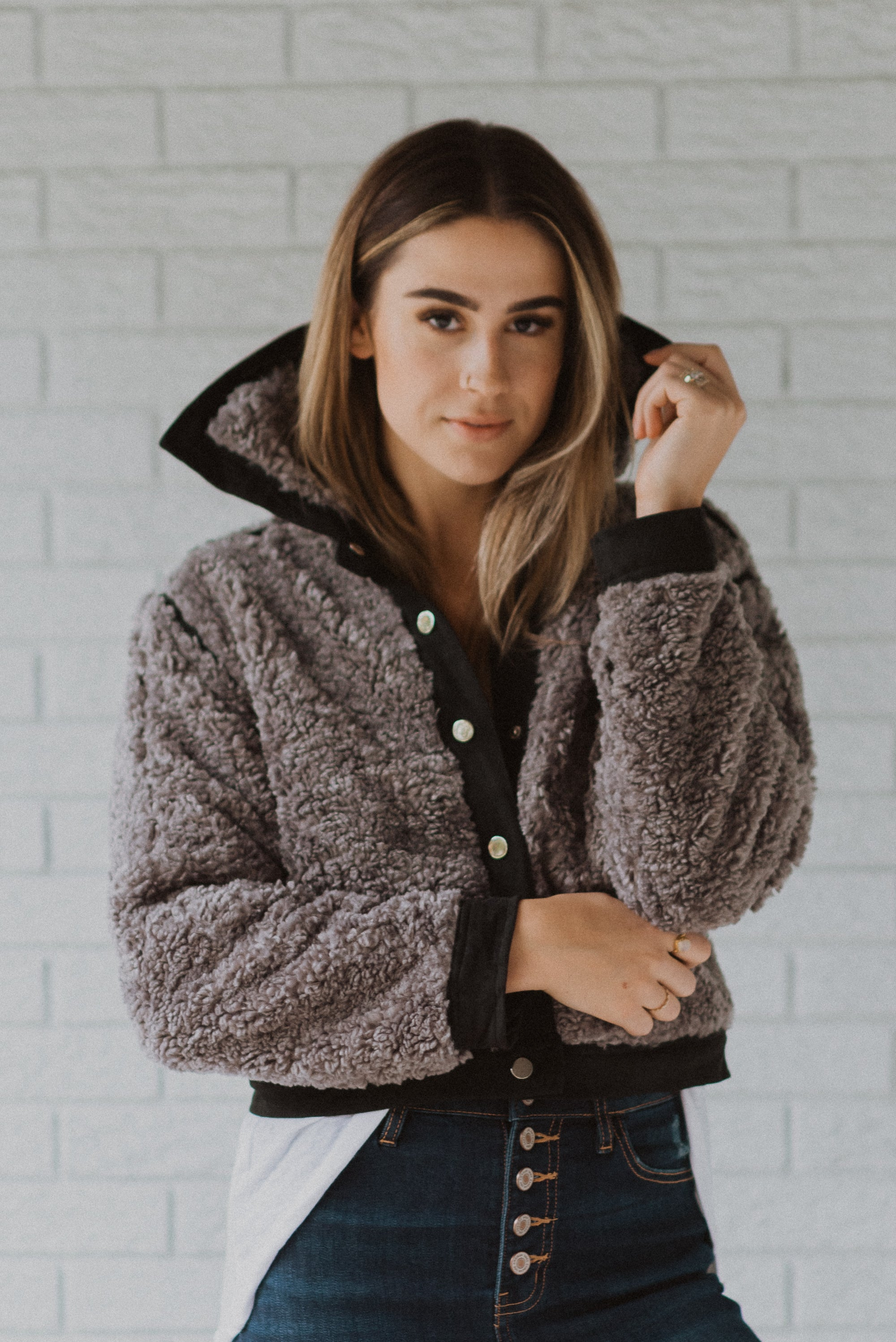Top It Off Shearling Fuzzy Jacket