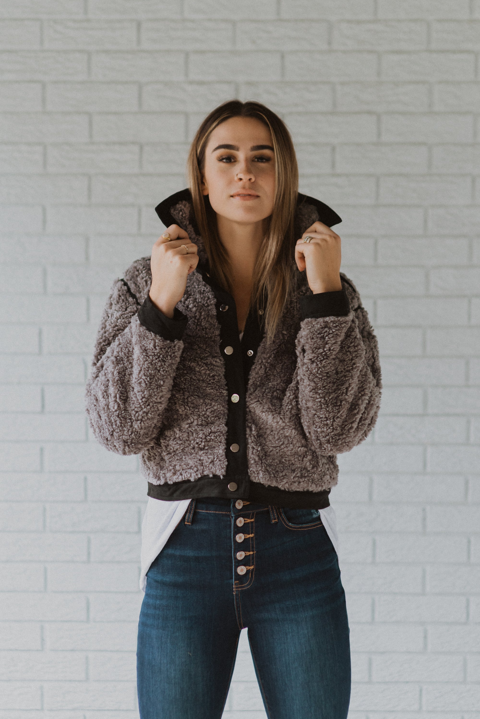 Top It Off Shearling Fuzzy Jacket / FINAL SALE