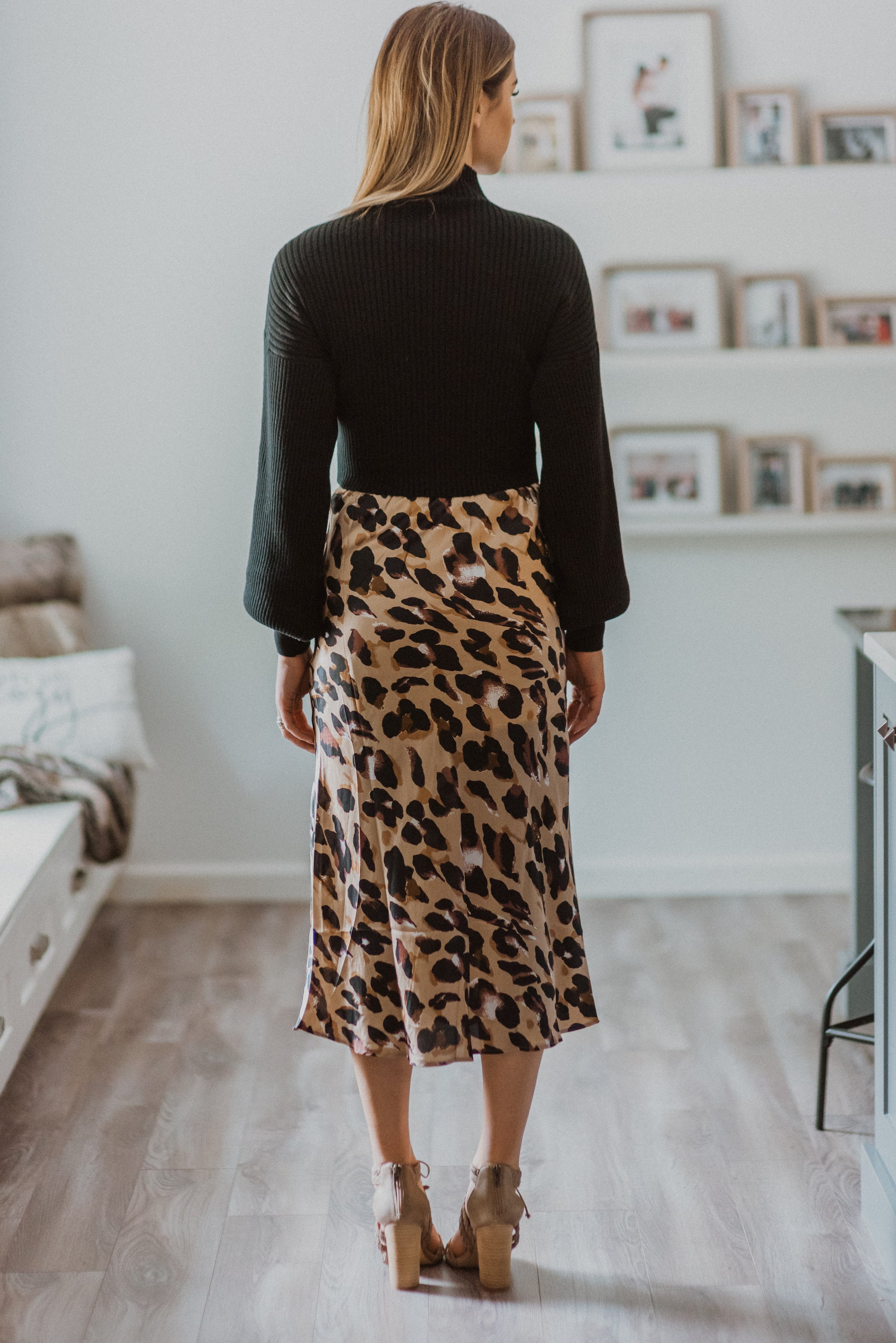Made to Roar Leopard Print Midi Skirt