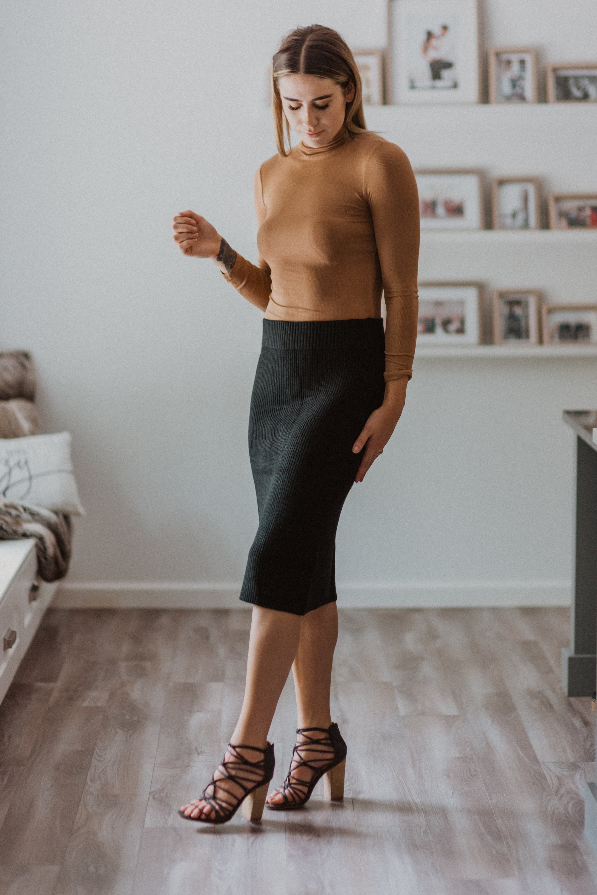 High & Mighty Knit Sweater Pencil Skirt