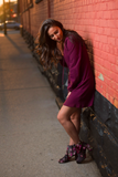 SOLD OUT / Brooklyn Lace Up Sweater Dress