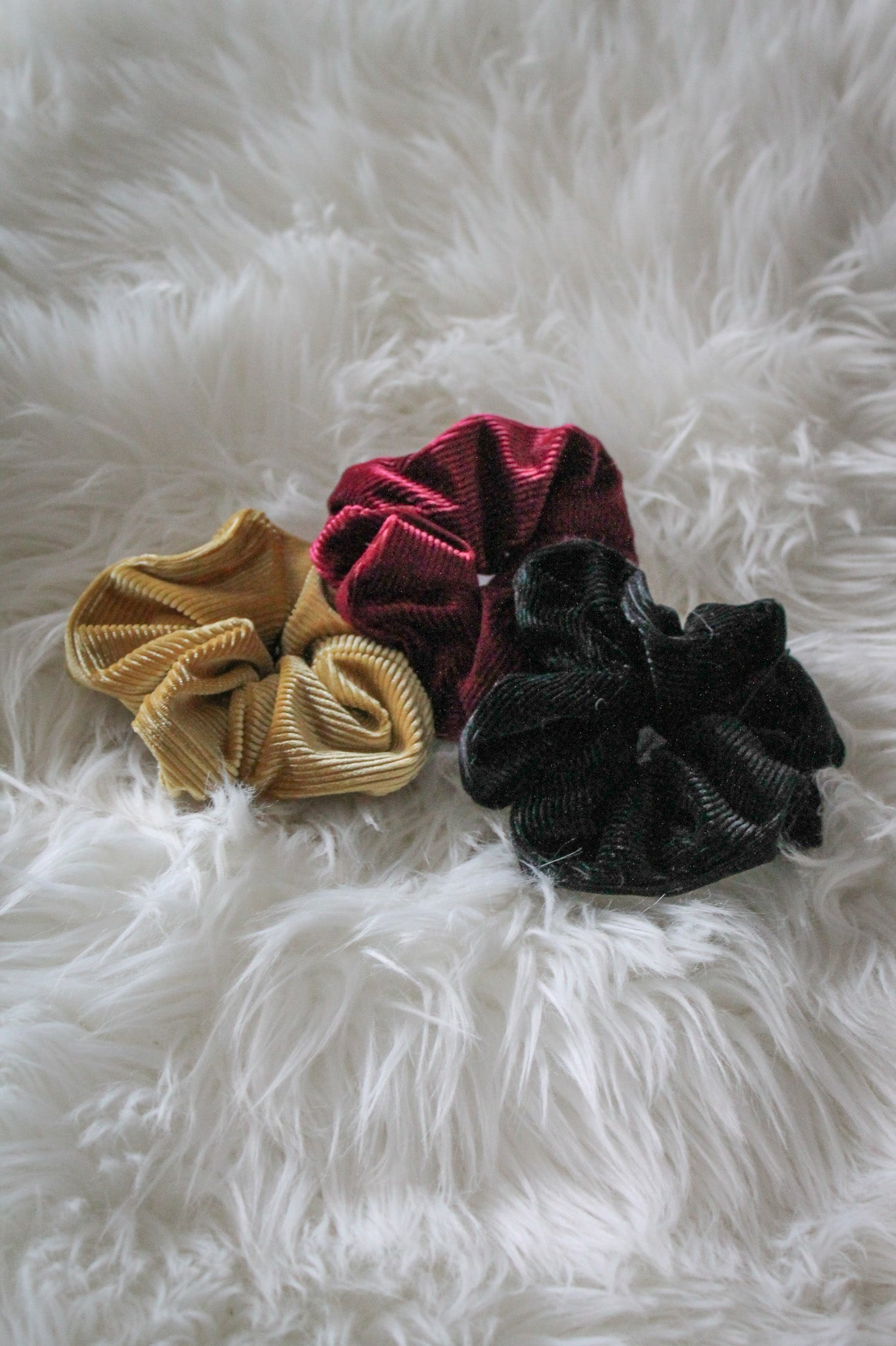 Up In the Hair Corduroy Scrunchie in Black