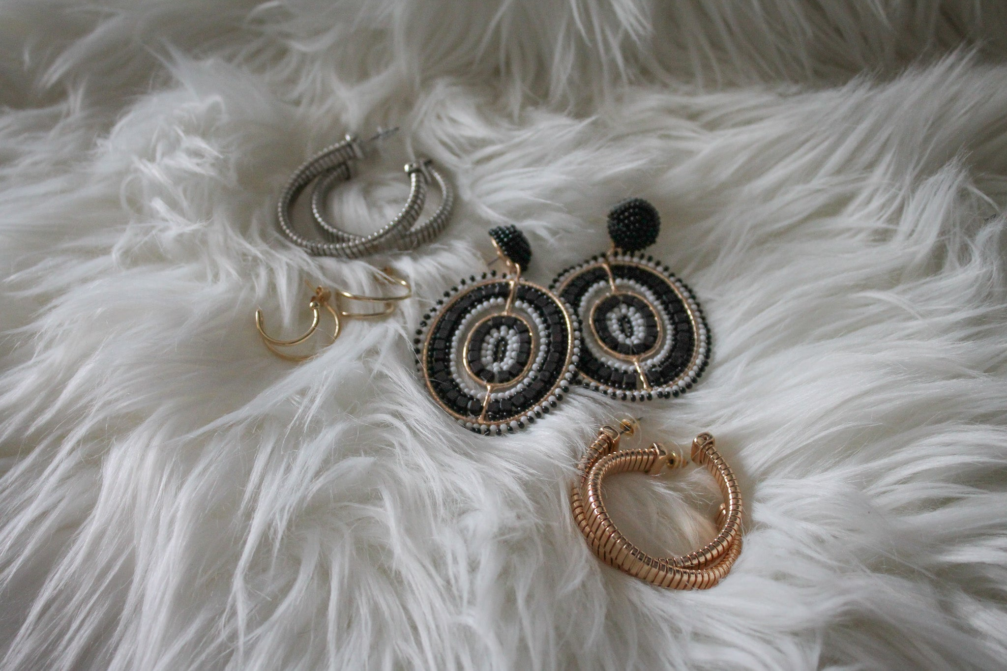 Double Up Hoop Earrings