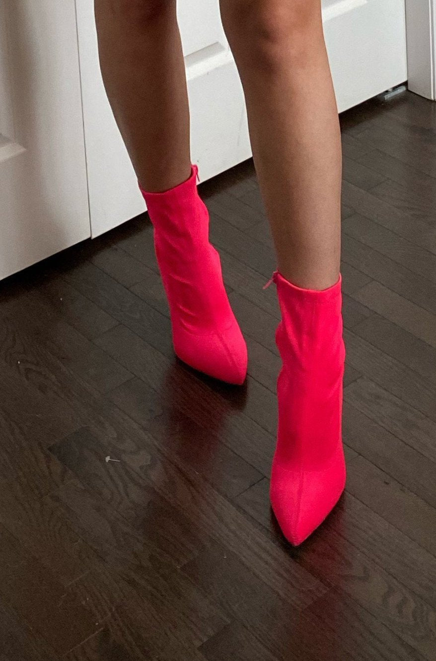 The Sarah Hot Pink Bootie / FINAL SALE