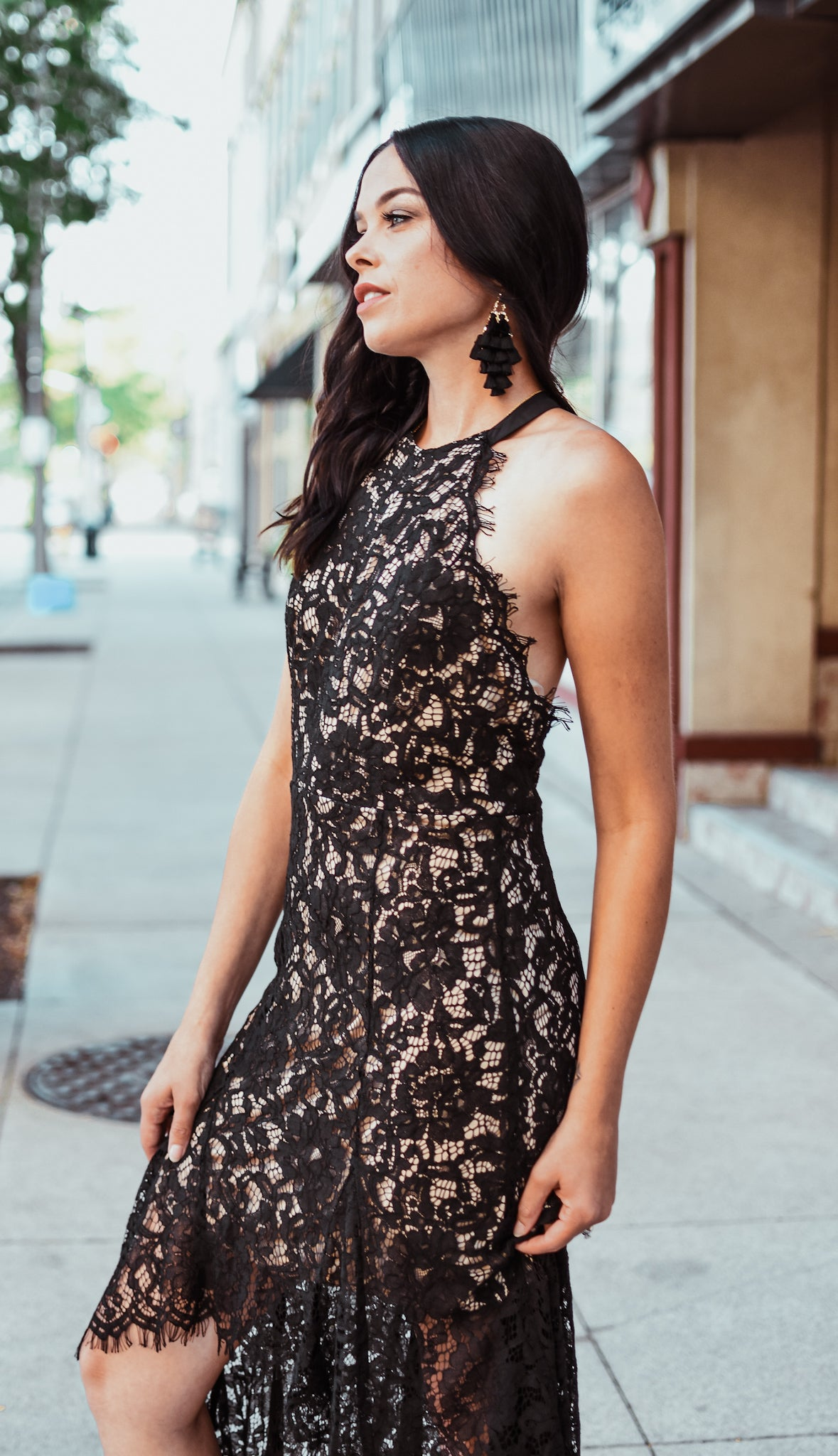 I'm All In Lace Overlay Dress