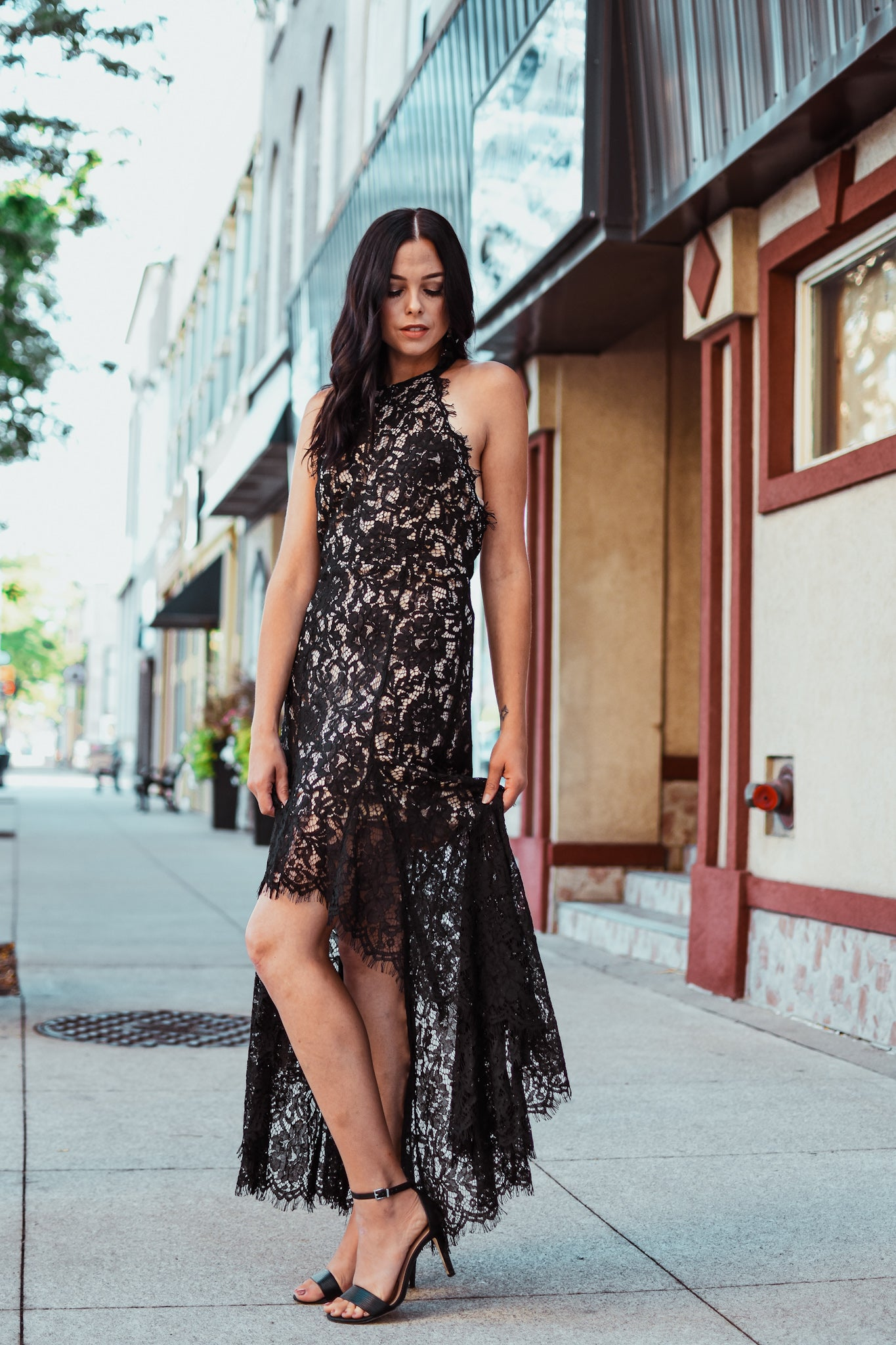 I'm All In Lace Overlay Dress / FINAL SALE