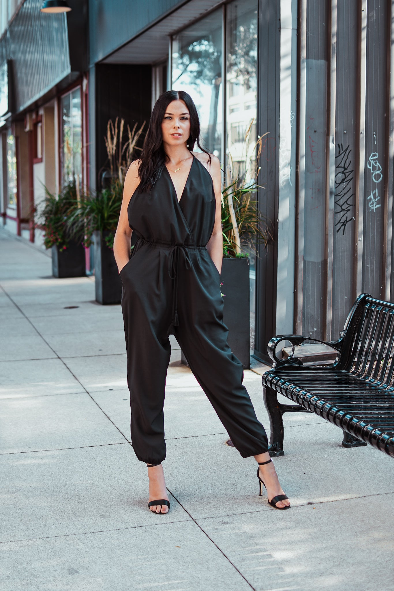 Too Hot Halter Jumpsuit
