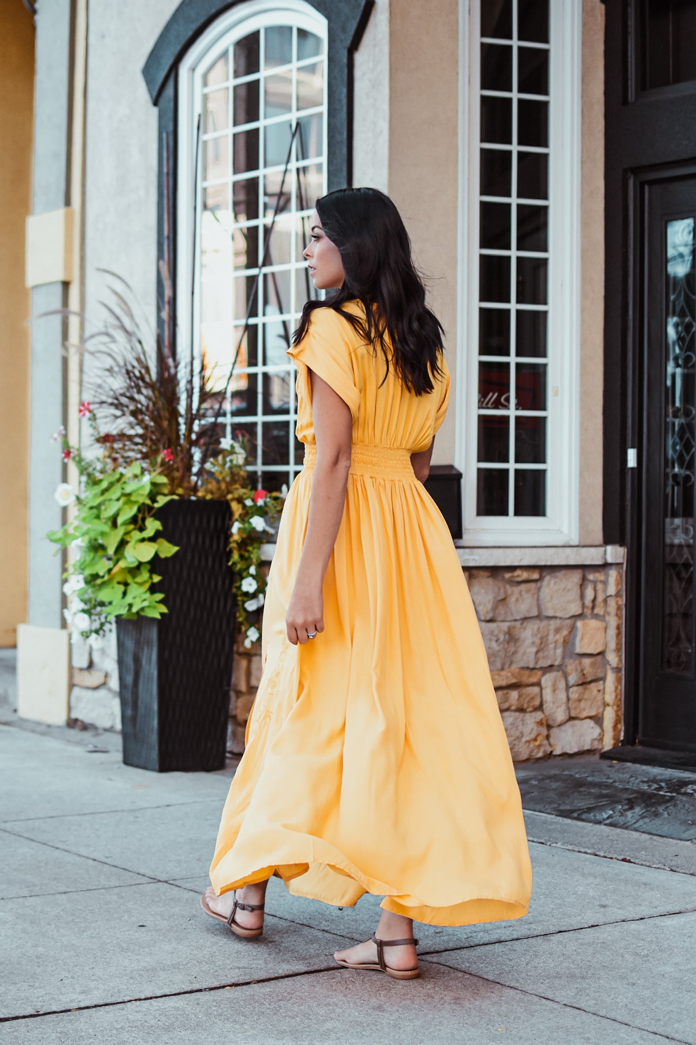 xSOLD OUTx Hot September Embroidered Maxi Dress in Mustard Yellow