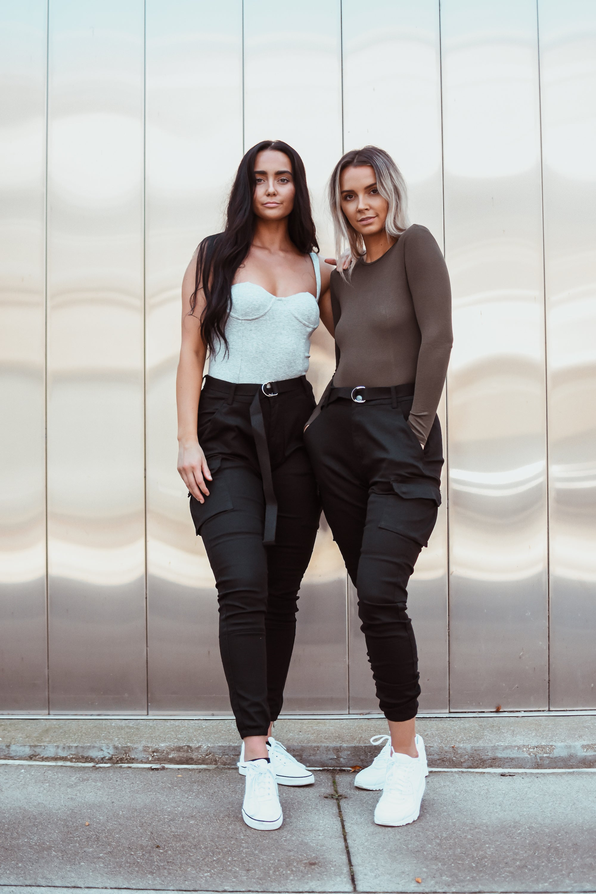 Nathan High Waist Cargo Belted Jogger Pant in Black / FINAL SALE