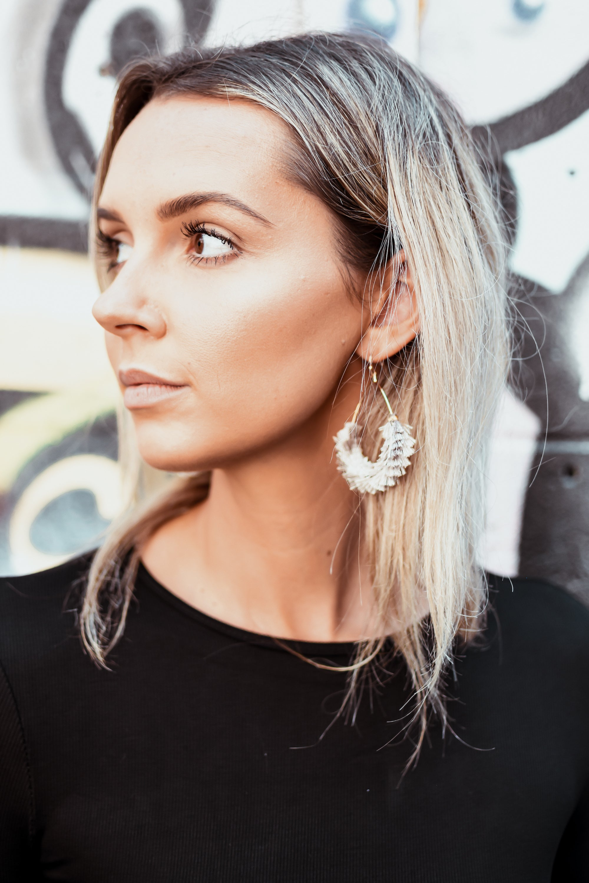 SOLD OUT / Wipe Away Those Teardrop Tassel Earrings in Ivory
