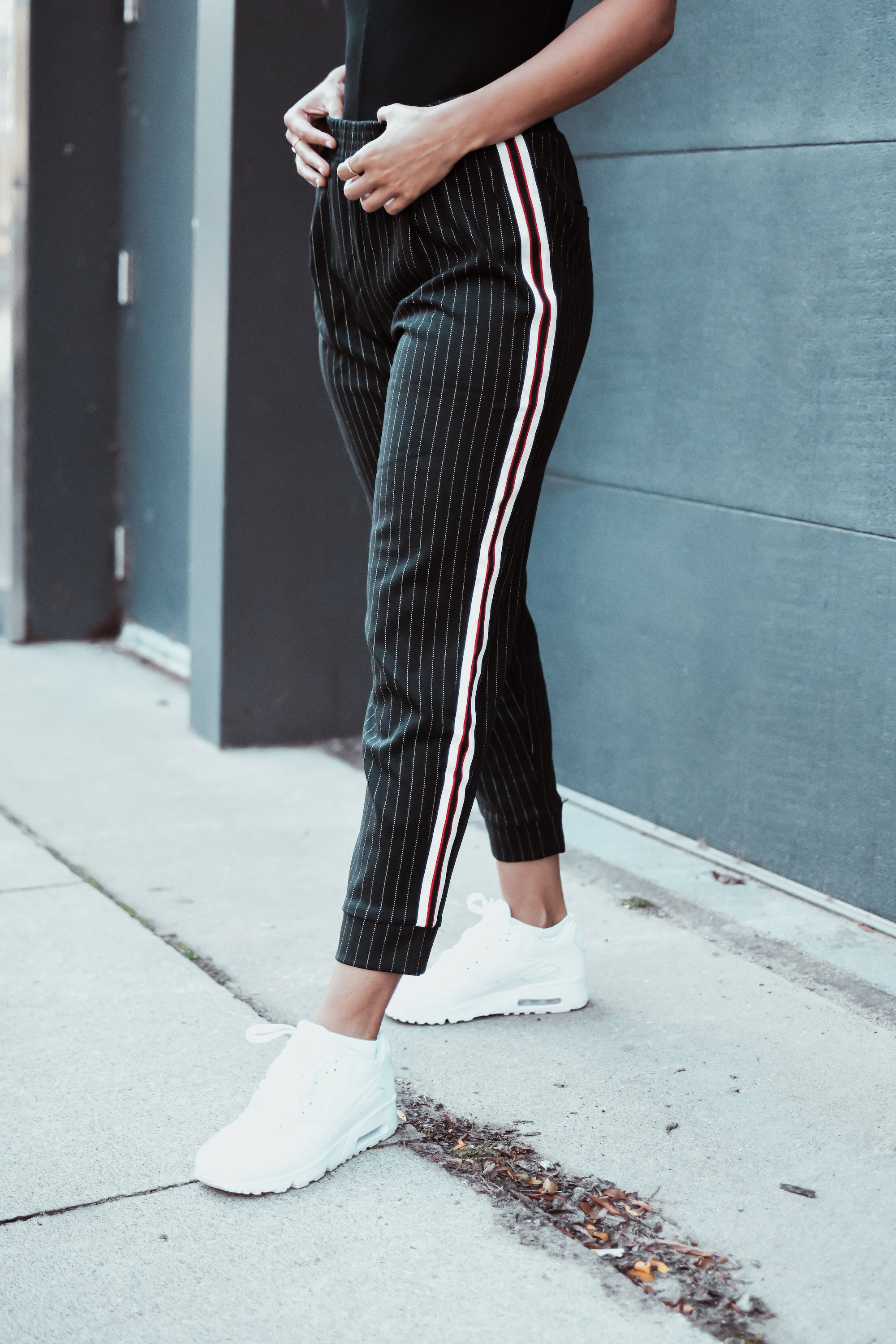 Work It Pinstripe Tuxedo Stripe Pants / FINAL SALE