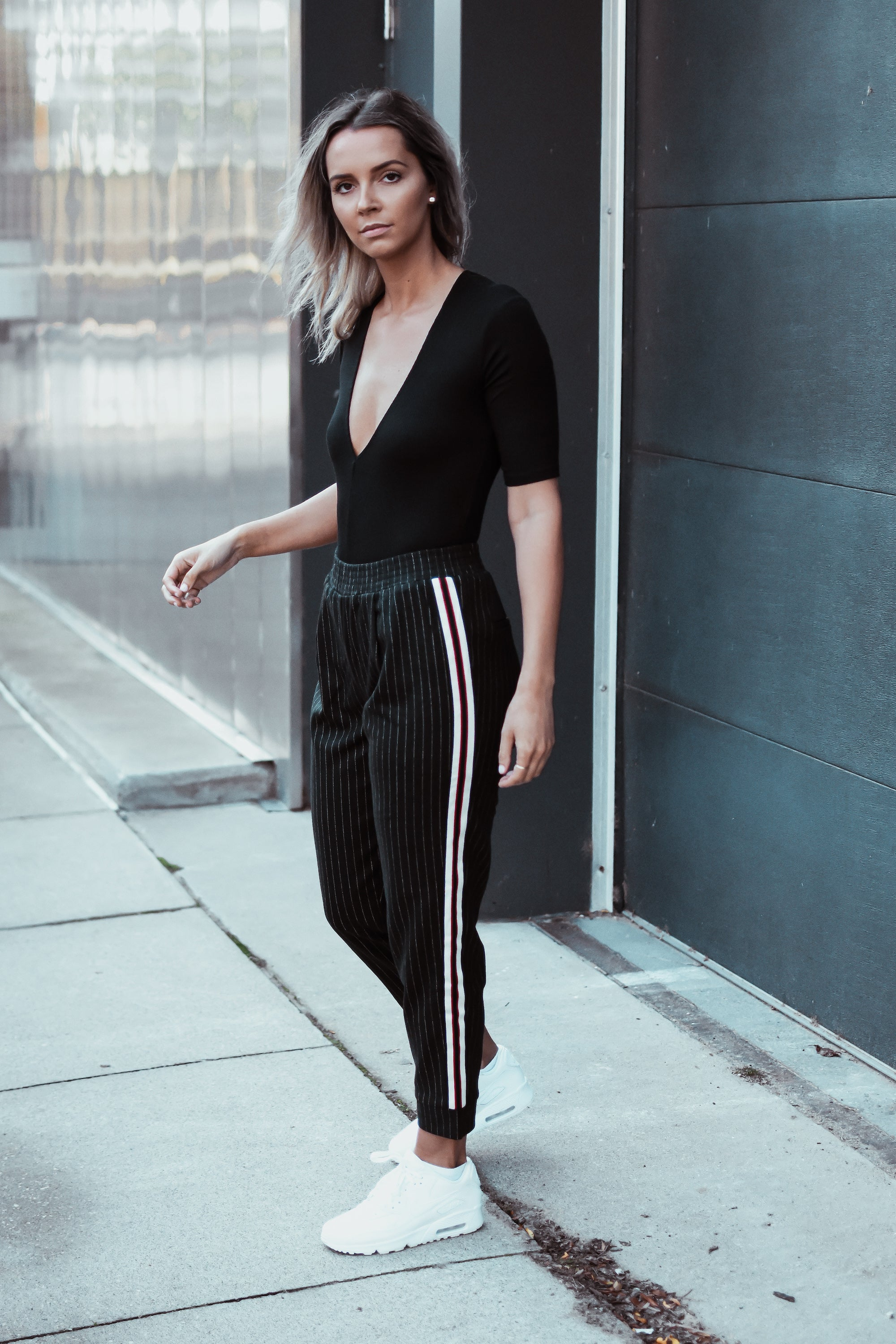 Work It Pinstripe Tuxedo Stripe Pants
