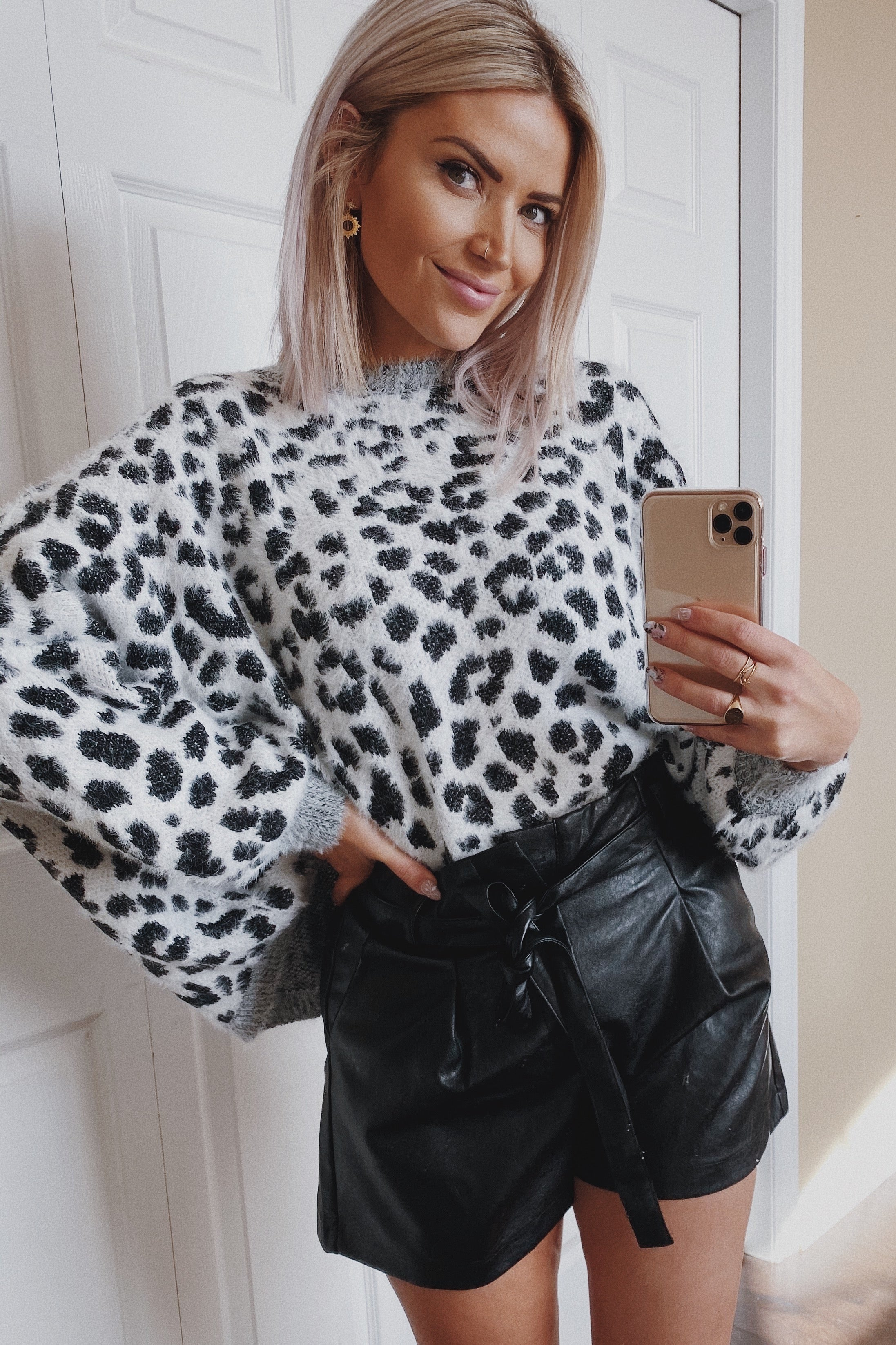 The One Where She Wore a Fuzzy Leopard Sweater