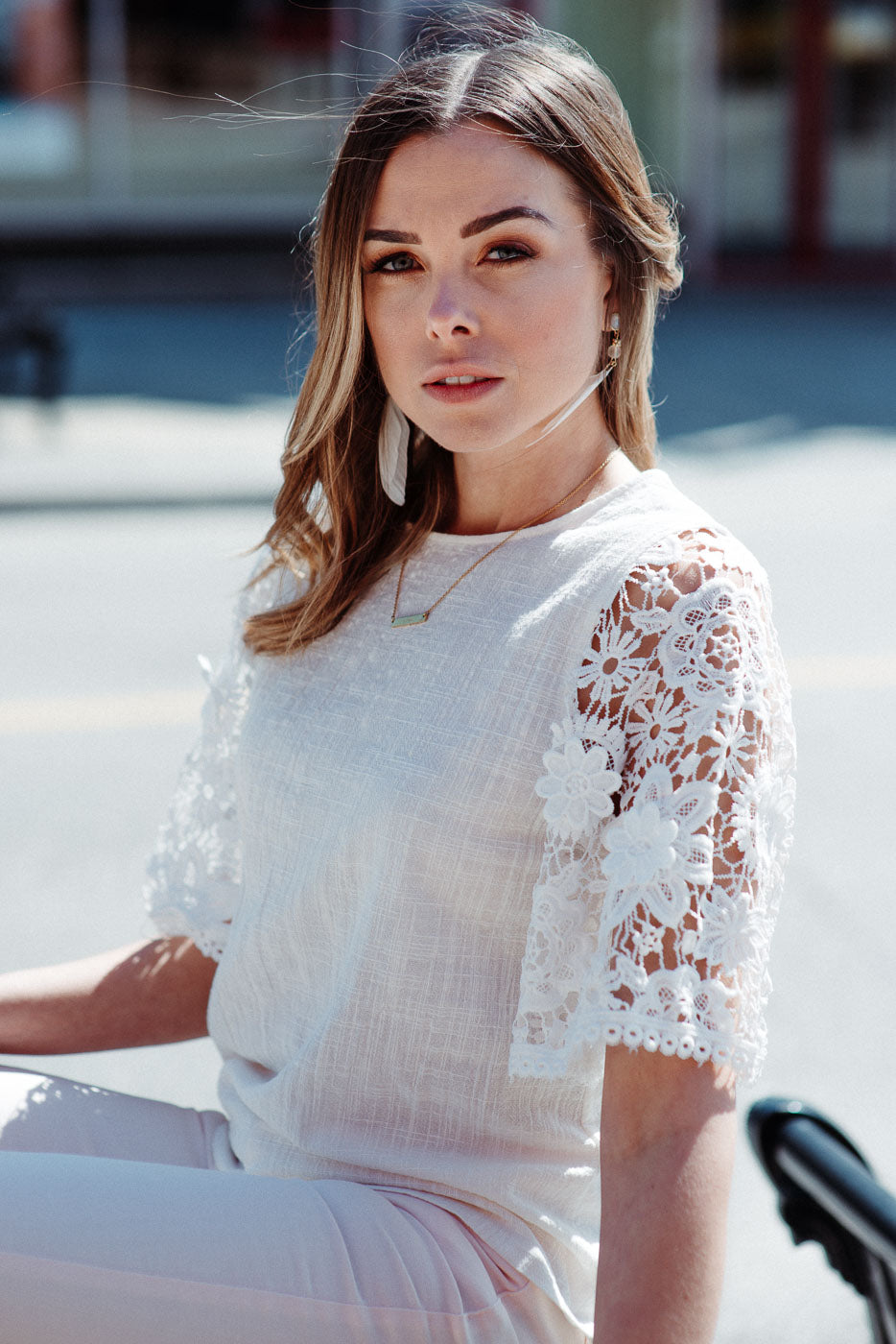 FLASH SALE / Calla Lily Crochet Top in Ivory