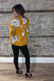 Empire Yellow Floral Flyaway Top / FINAL SALE