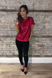 Glimmer of Hope Red Sequin Top